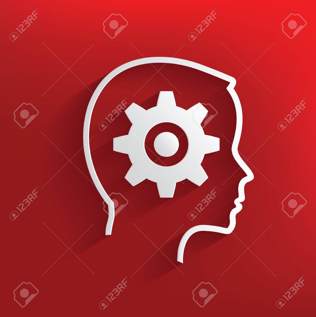 Gear brain symbol on red backgroundclean vector royalty free gear brain symbol on red backgroundclean vector stock vector 32693458 biocorpaavc Images