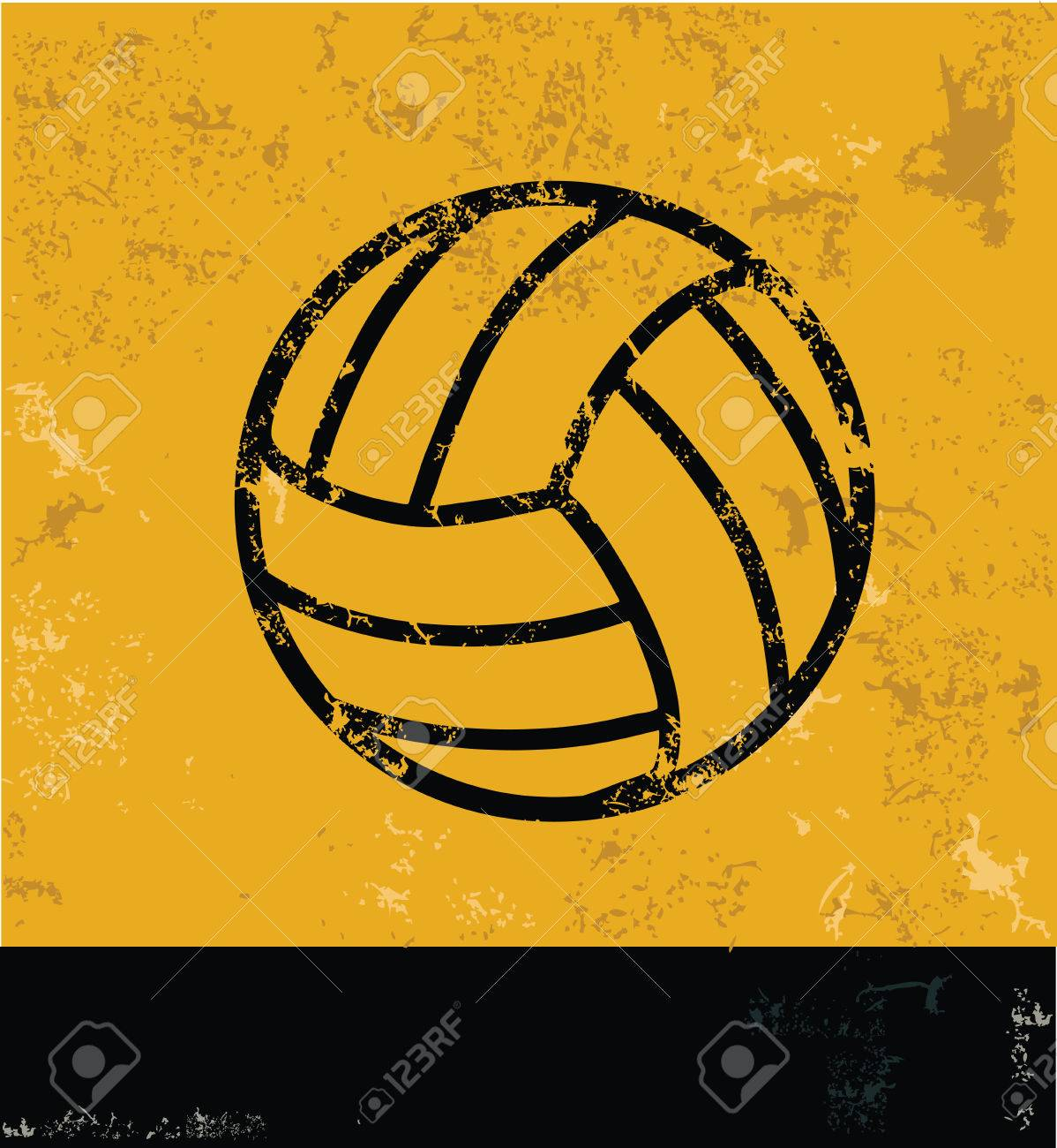 Volleyball Design On Yellow Background Yellow Vector Royalty Free Cliparts Vectors And Stock Illustration Image 34670884