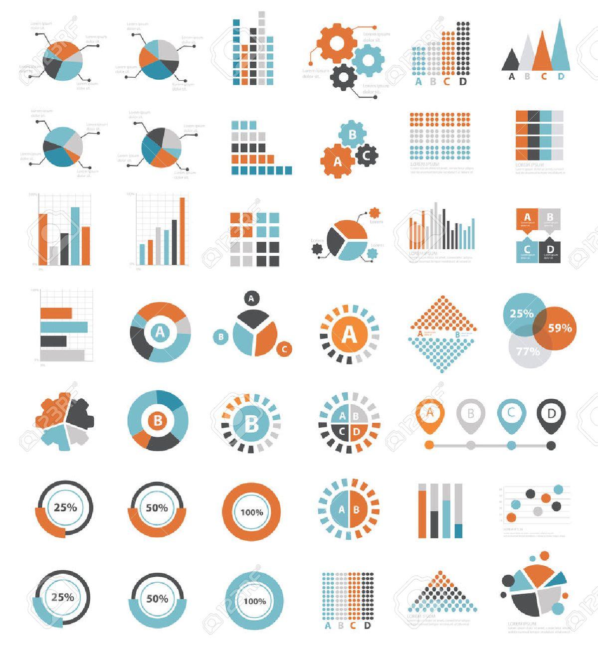 Data analysis icons on white background clean - 41139379
