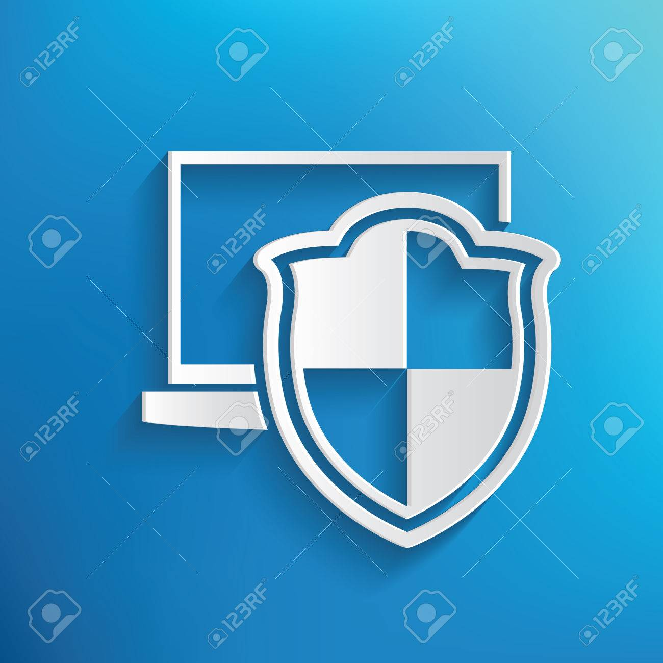 Computer security symbol on blue backgroundclean vector royalty computer security symbol on blue backgroundclean vector stock vector 43132532 buycottarizona Choice Image