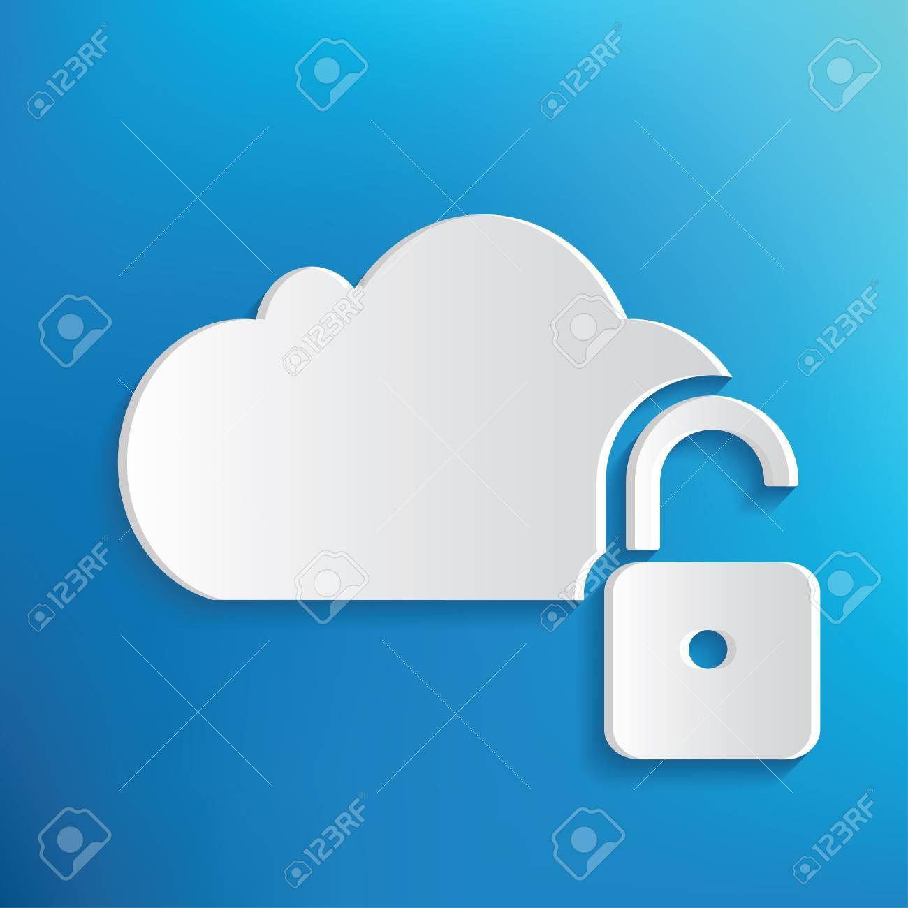 Unlock cloud symbol on blue backgroundclean vector royalty free unlock cloud symbol on blue backgroundclean vector stock vector 43120573 biocorpaavc Gallery