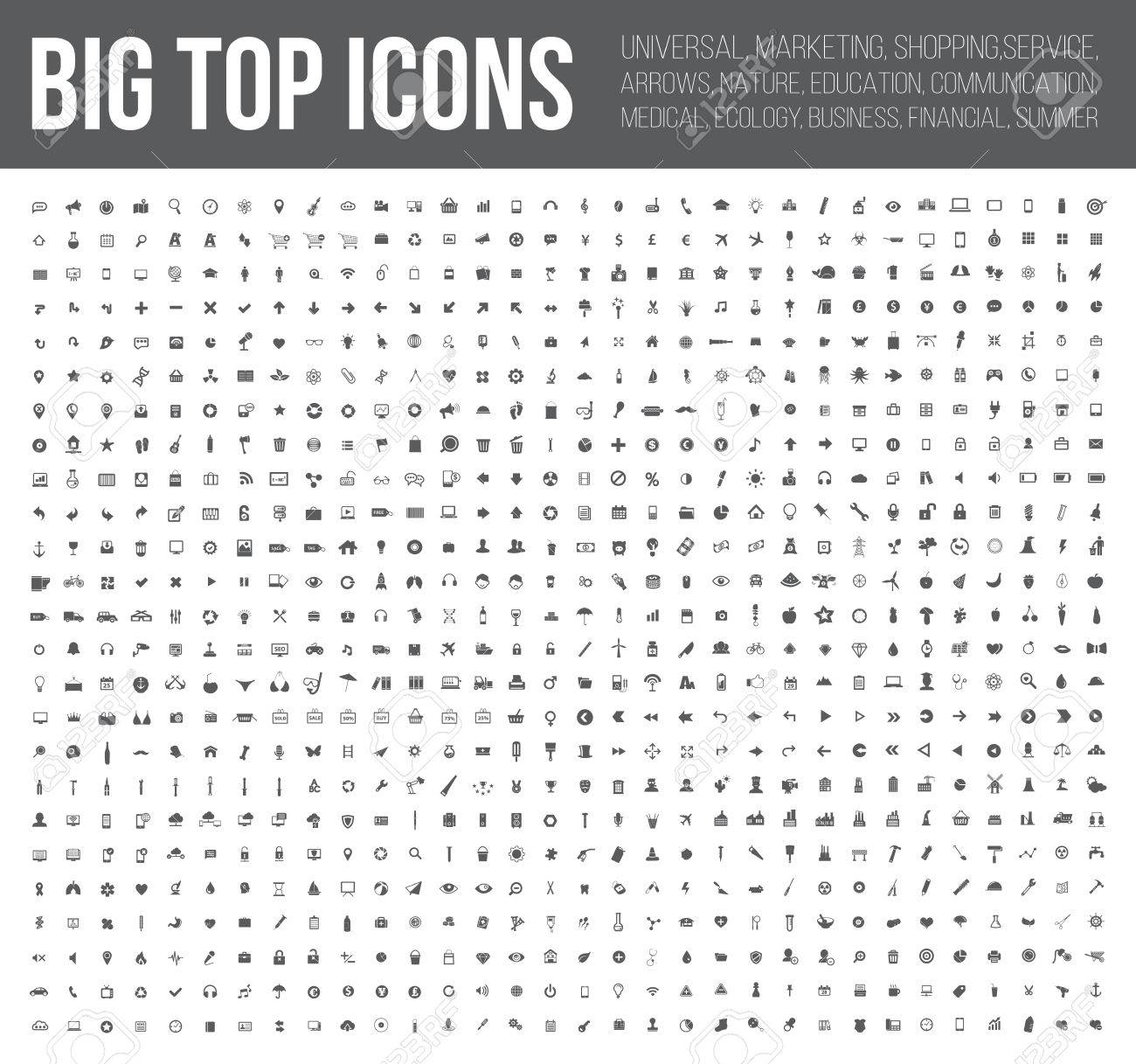 Big top icons,Business,Finance,industry,Medical, and website icon set,clean vector - 43073800