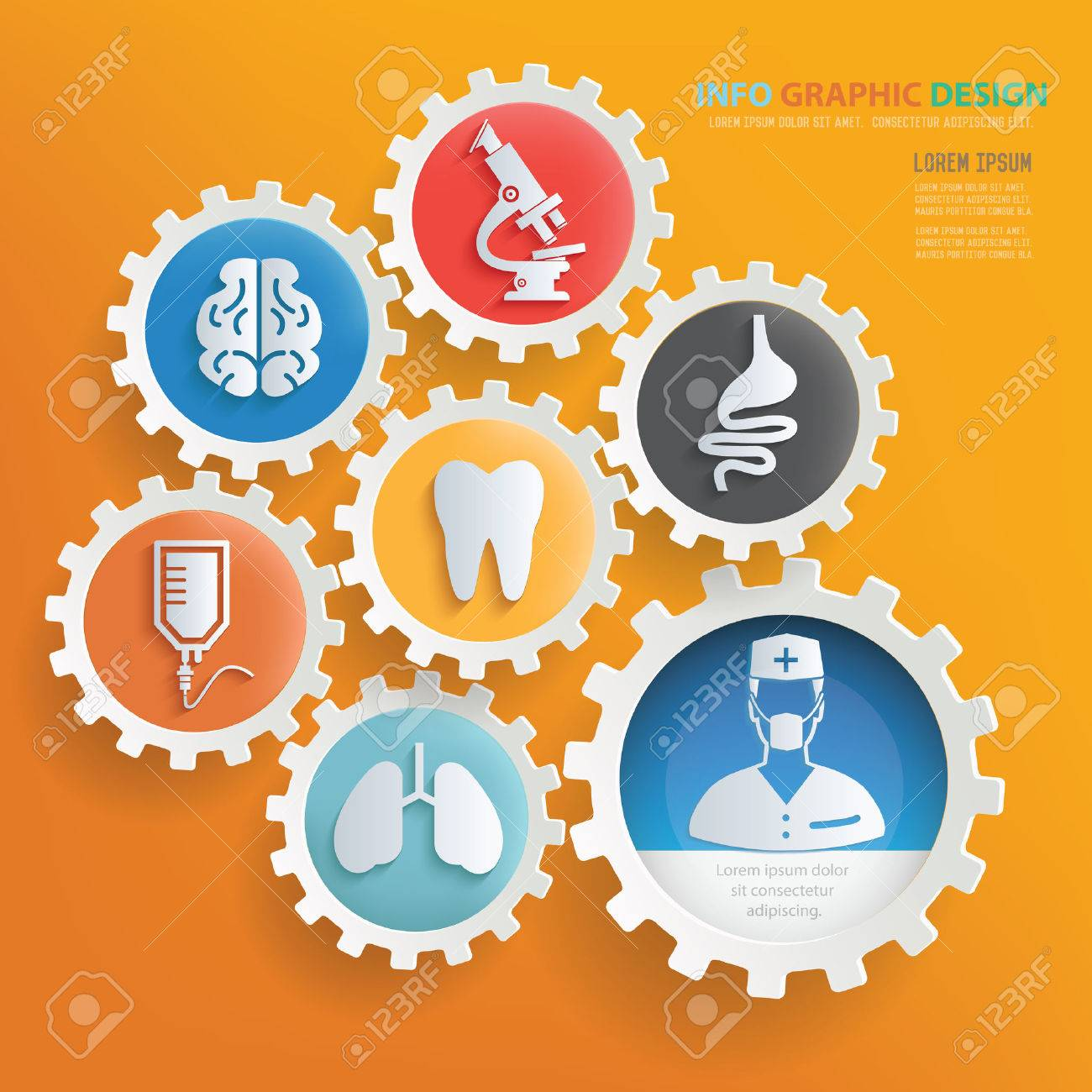 Medical and health care infographic design,clean vector - 51132020