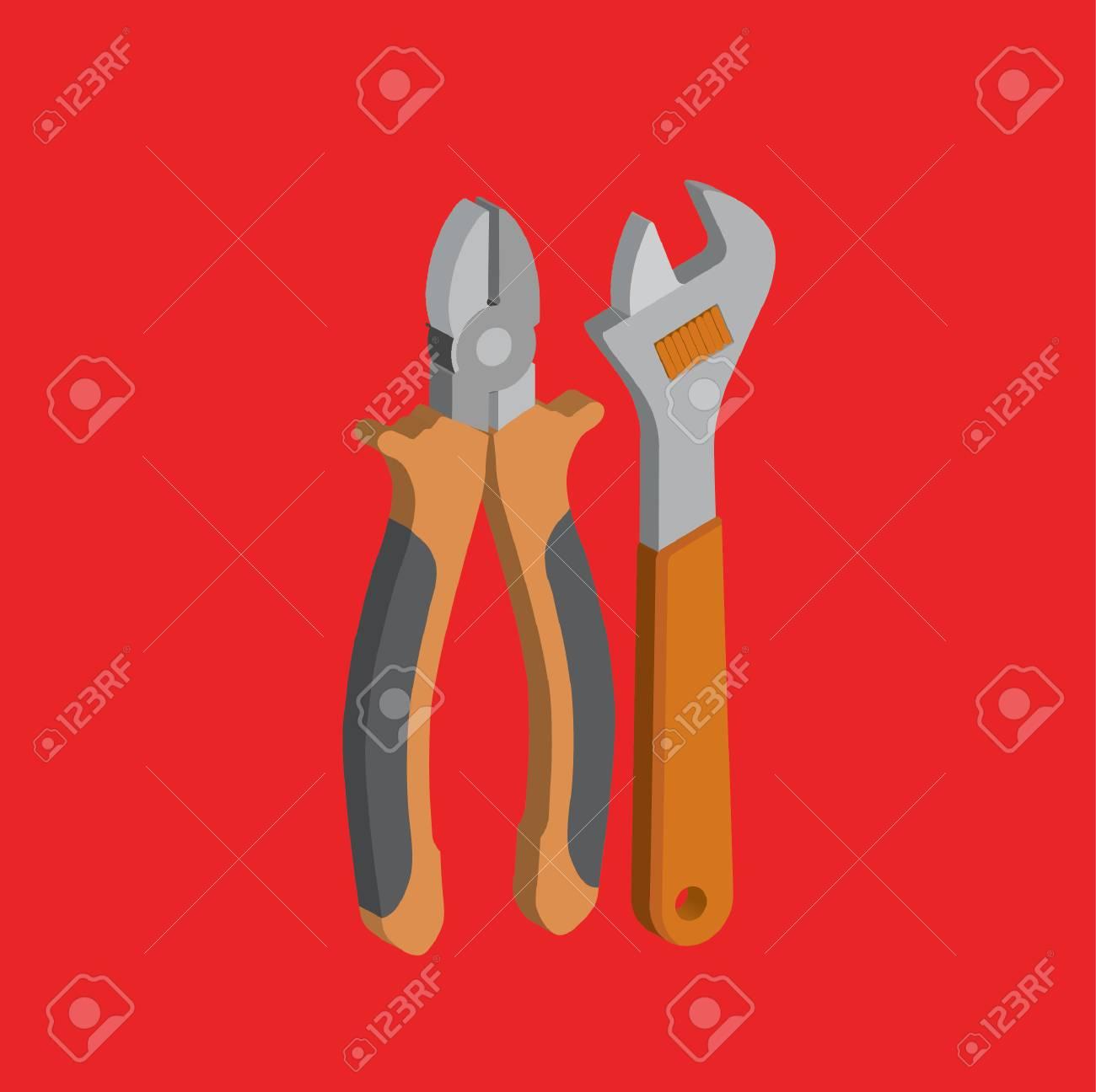 Engineer tool design,clean vector