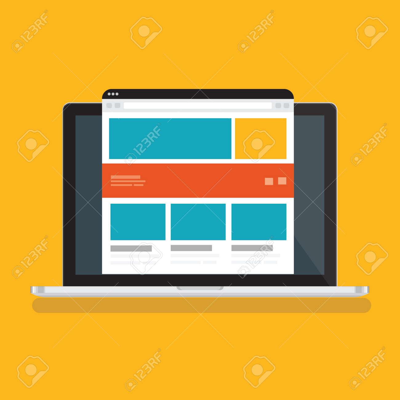 Responsive laptop vector design - 154310966