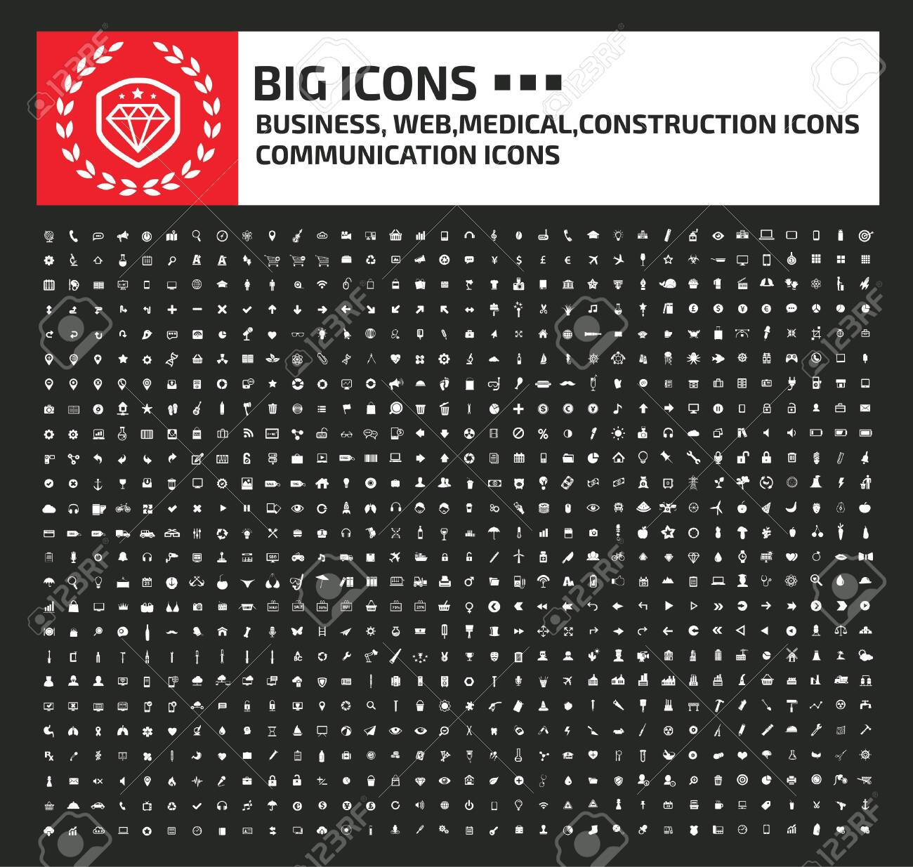 Business web medical and construction icon set design - 137543579