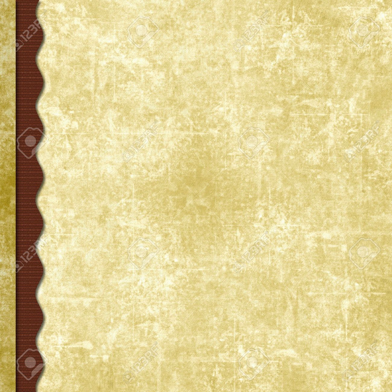 triple layered old antique paper scrapbook background with wavy