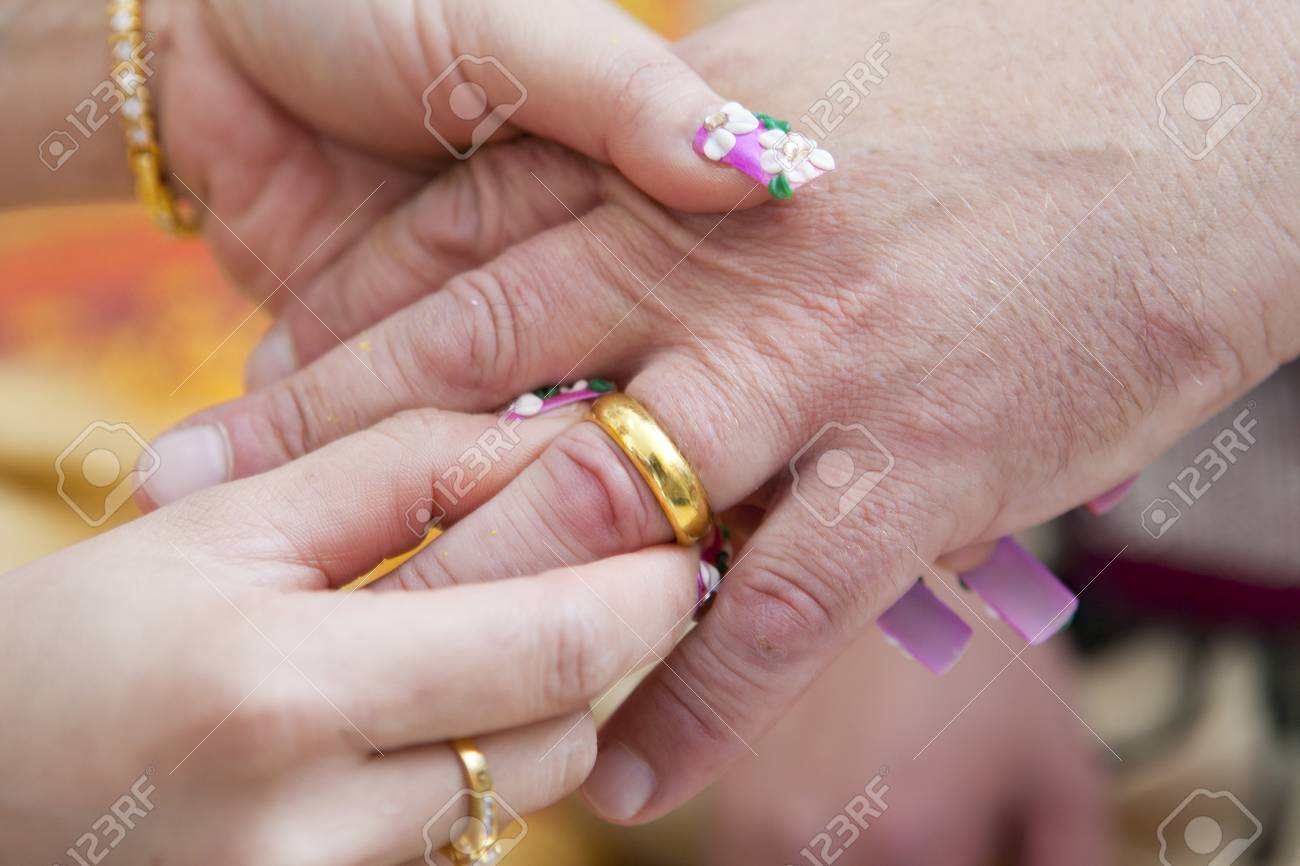 Wearing Engagement Rings For Men Stock Photo, Picture And Royalty ...