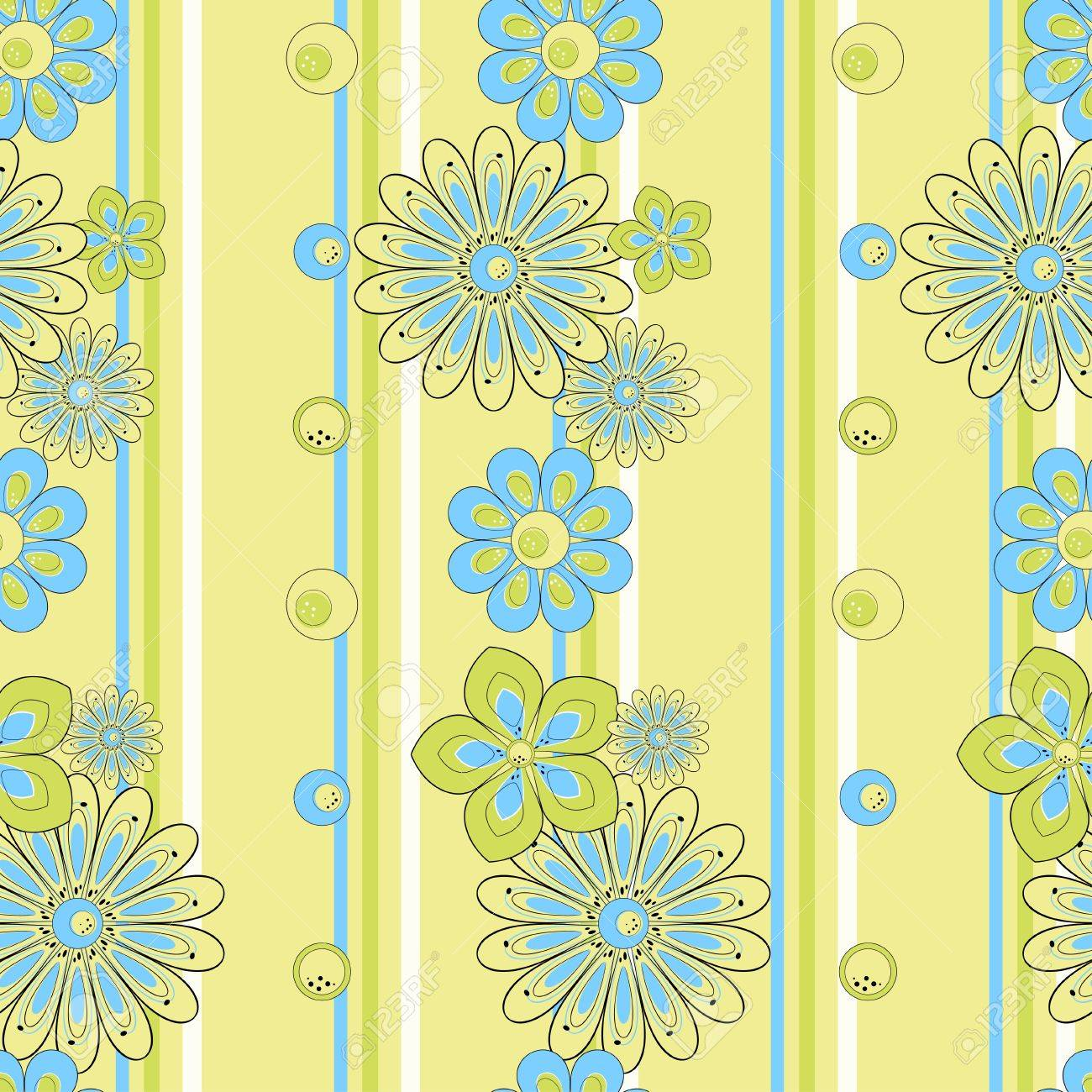 Abstract flower seamless pattern Stock Vector - 11539427