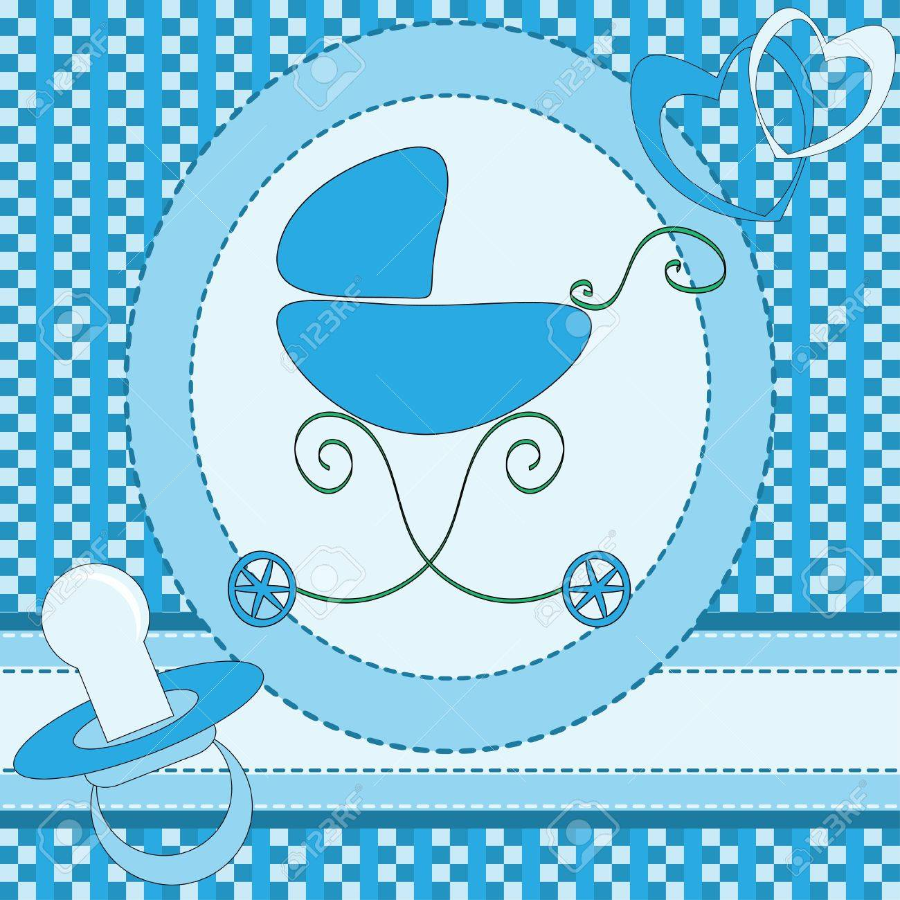 Baby boy greeting card Stock Vector - 13662273
