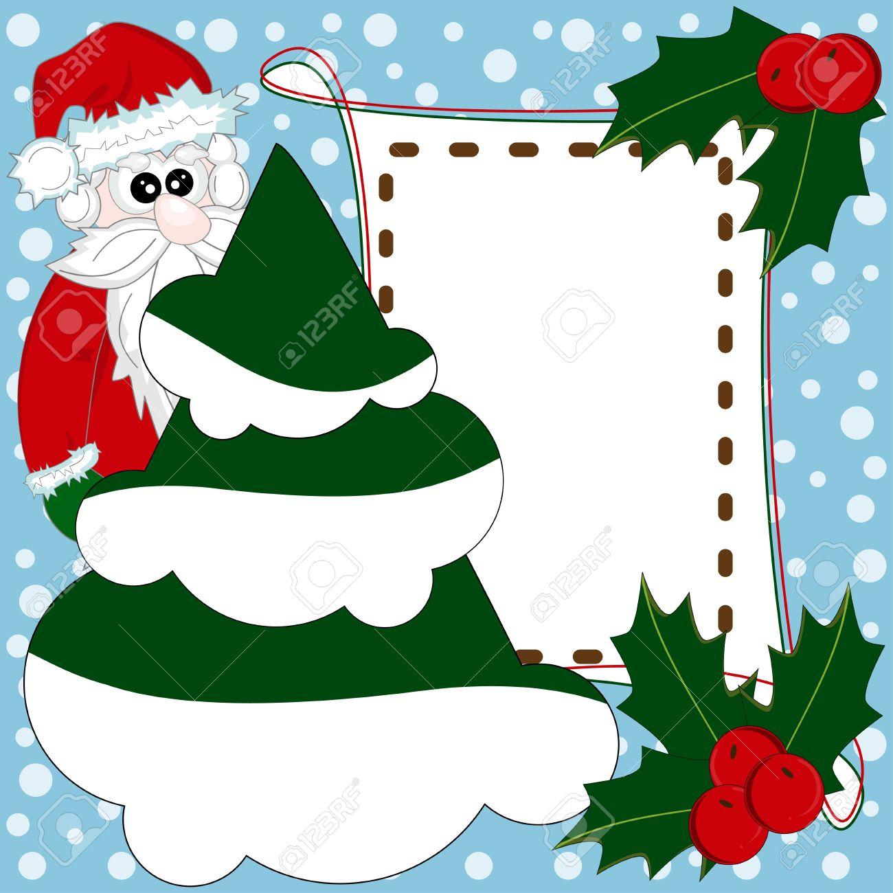 Navidad Y Año Nuevo Tarjeta Invitación
