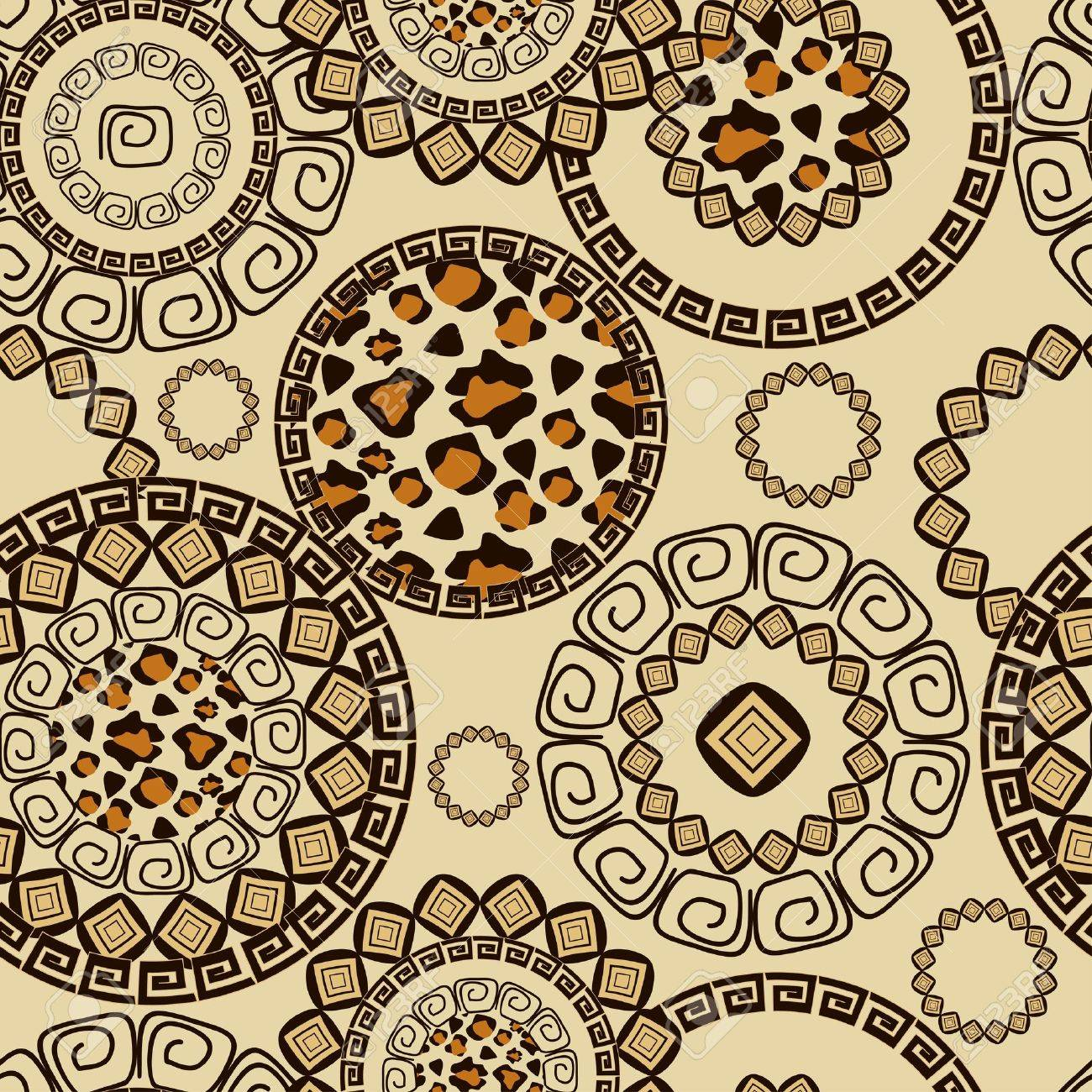 african style seamless with cheetah skin pattern royalty free