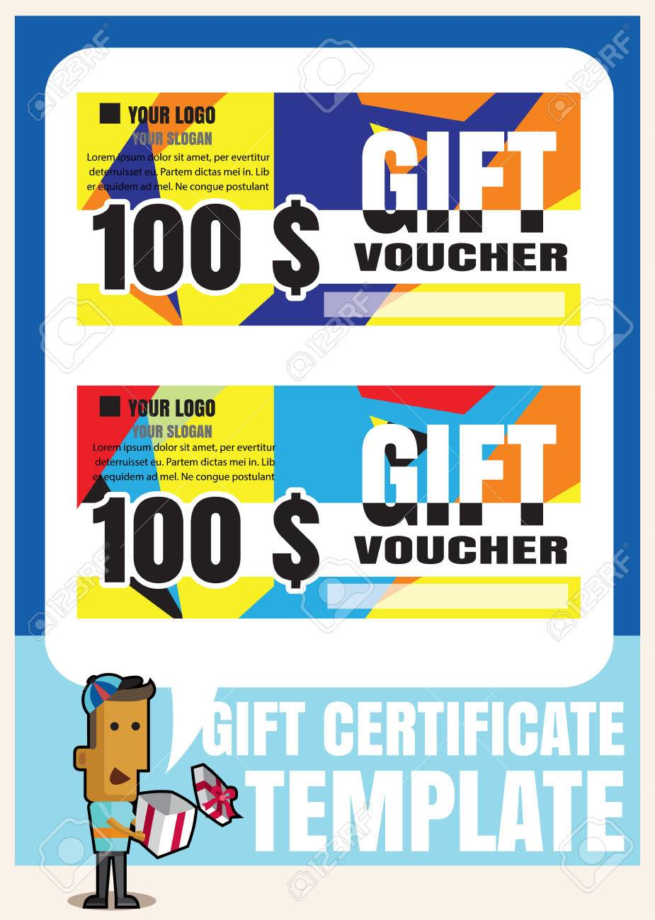 Gift Certificate Voucher Coupon Template Modern StyleGift Voucher - 100 gift certificate template