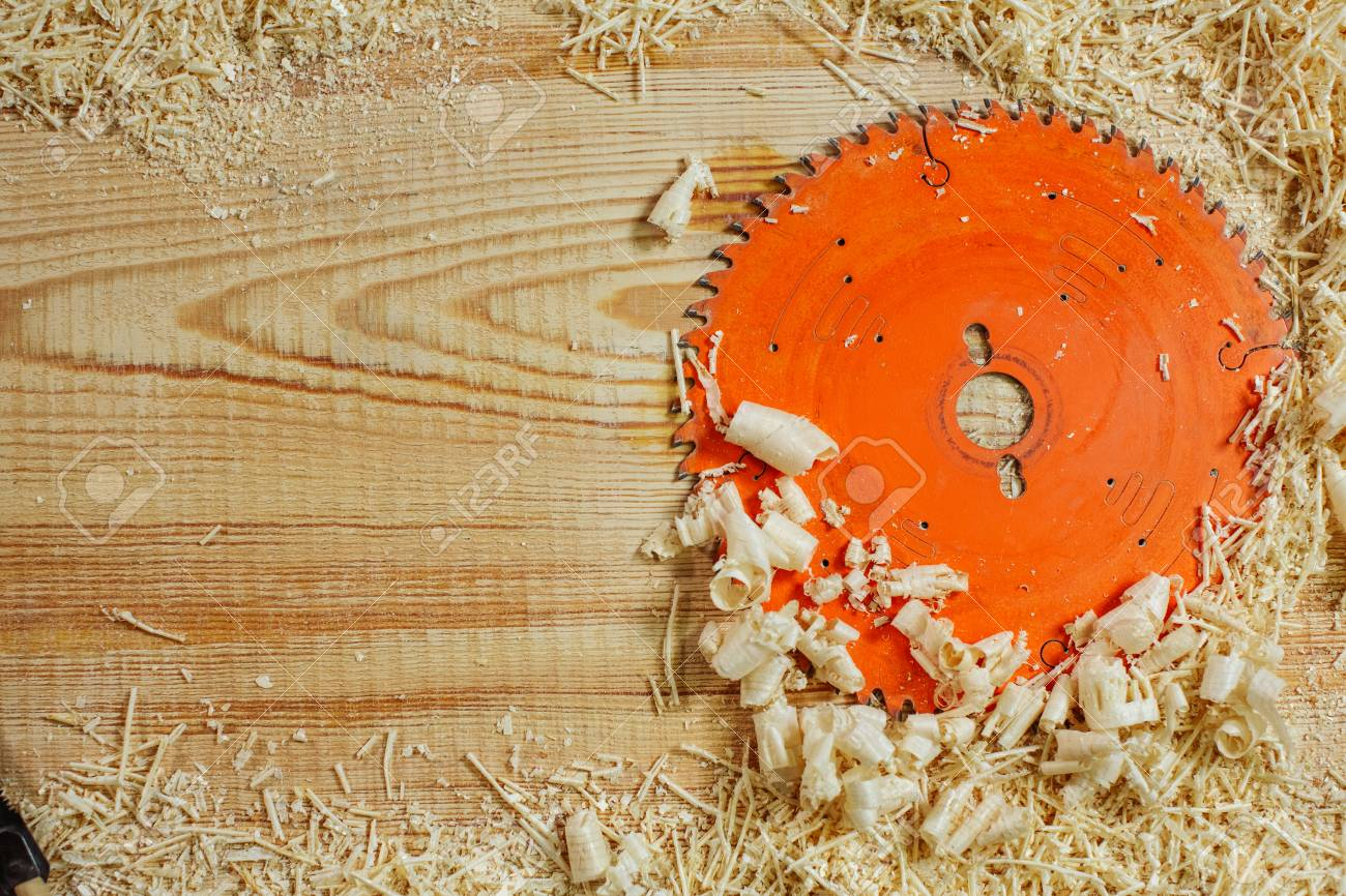 Cool Circular Saw Among The Sawdust On A Wooden Bench Place For Your Ocoug Best Dining Table And Chair Ideas Images Ocougorg