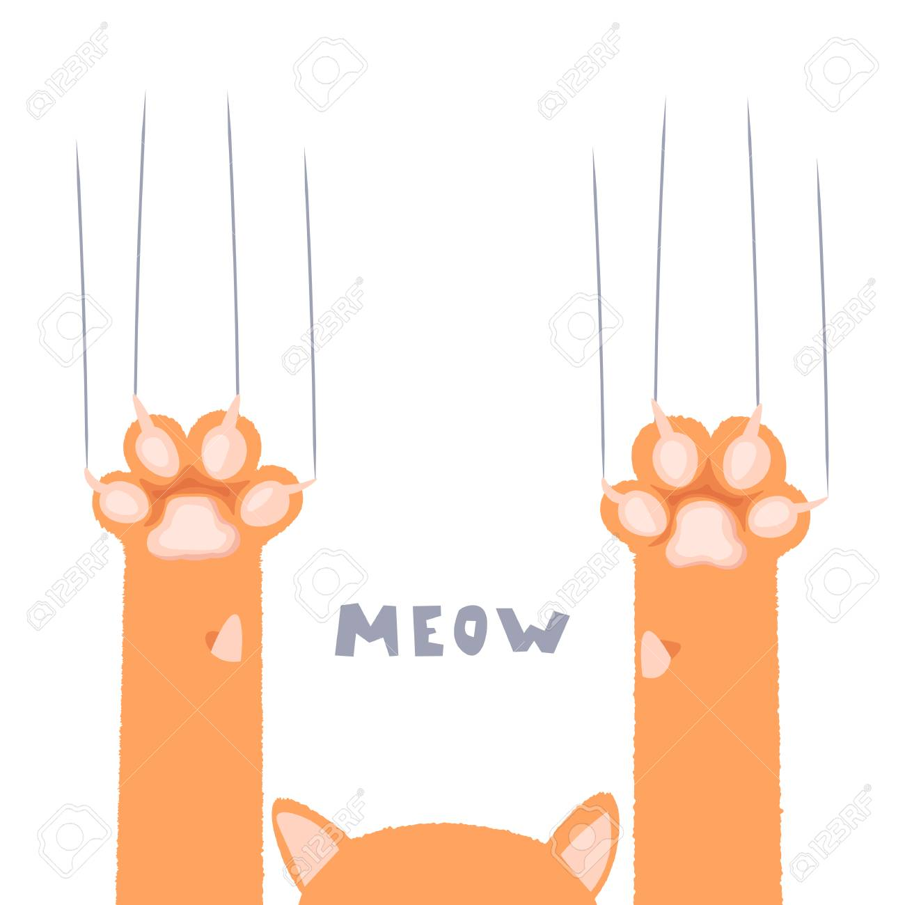 Cat Paws Wallpaper Legs Dog Paw Cat Background Kitten Flat Royalty Free Cliparts Vectors And Stock Illustration Image 126180278