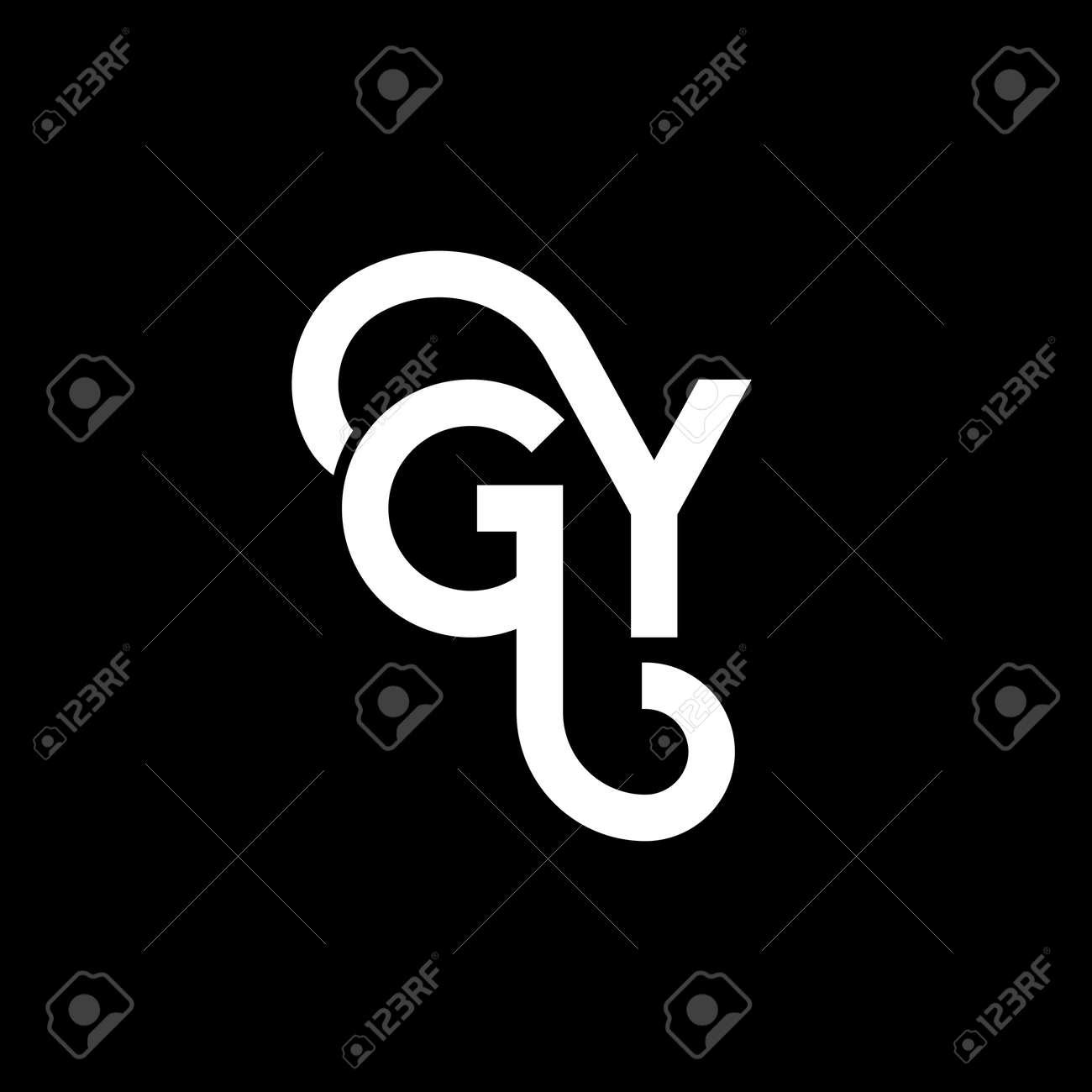 GY letter design on black background. - 165180728