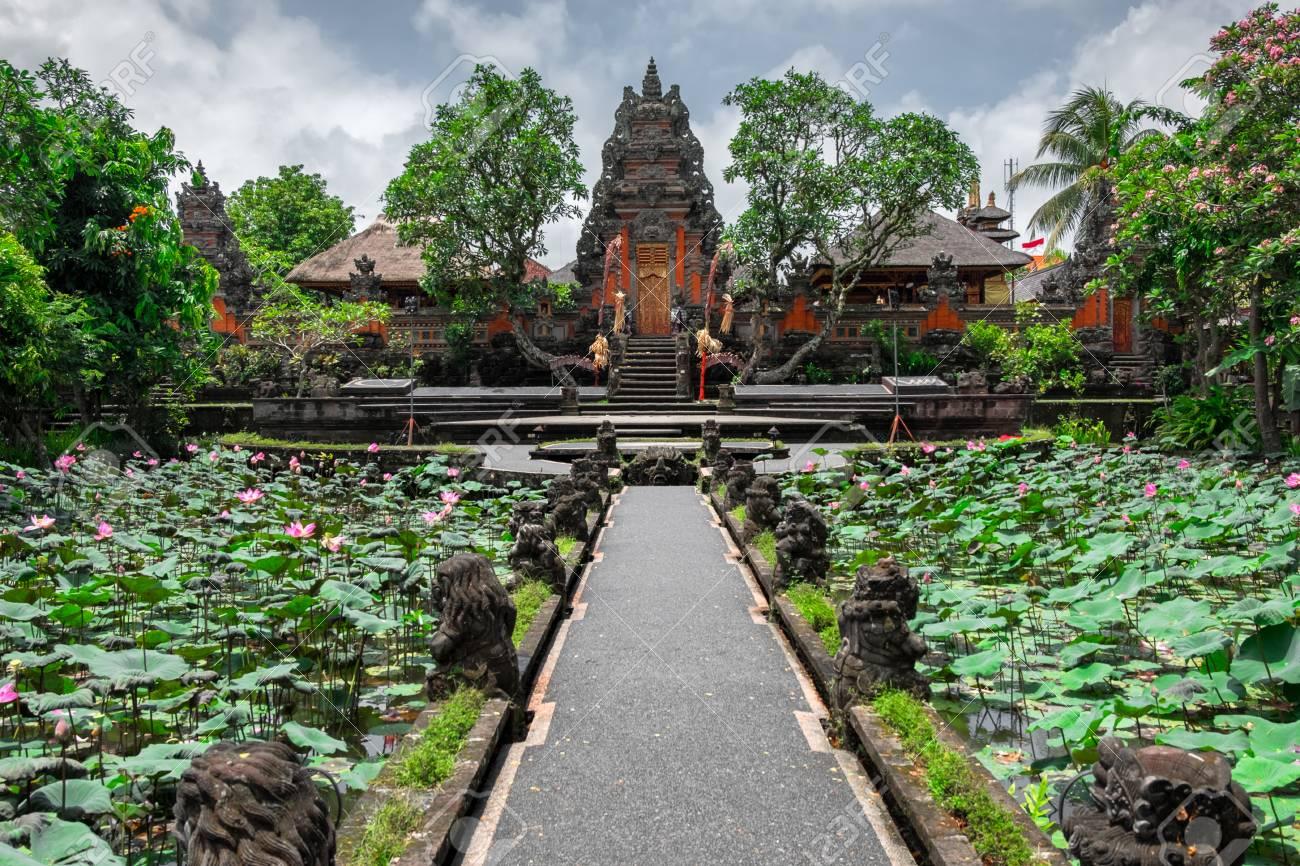 Pura Taman Saraswati Ubud Water Palace Temple In Bali Indonesia