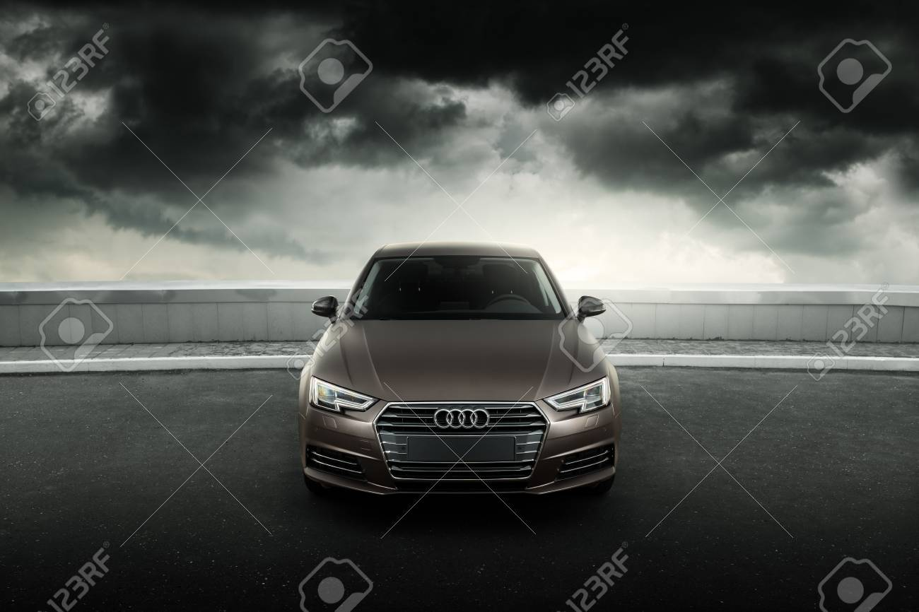 Moscow Russia July 04 2017 Car Audi A4 B9 Wrapped In Matte Stock Photo Picture And Royalty Free Image Image 117317823