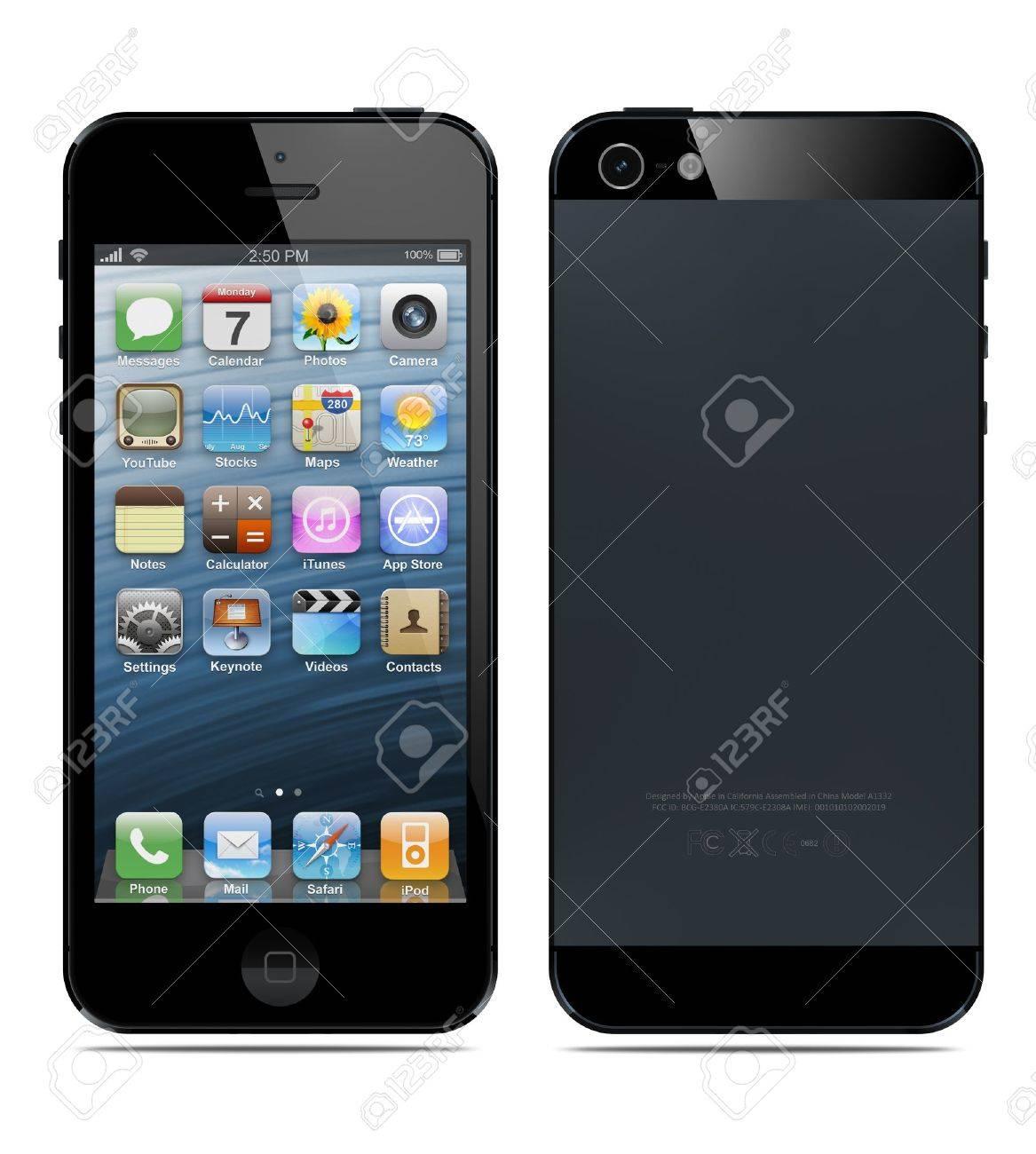 71c7f6e8038 Archivio Fotografico - Galati, Romania-12 Set 2012: Nuovo Apple iPhone 5 è  stato rilasciato per la vendita da parte di Apple Inc. il 12 settembre 2012.