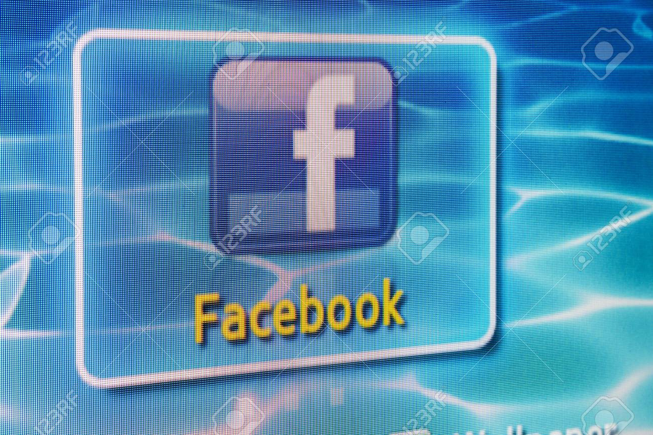 Galati, Romania - Januarie 31, 2013: Close-up of Facebook for Samsung Internet TV makes it`s easy to stay connected and share information with friends from your TV. Stock Photo - 17838545