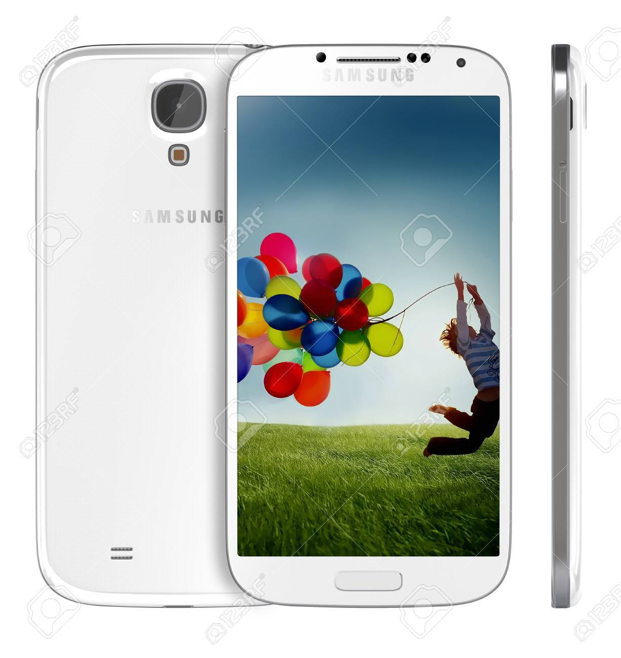 Samsung Galaxy S4 handset steadily draws from the same design language as the S3, but takes almost every spec to an extreme -- the screen is larger, the processor faster and the rear-facing camera stuffed with more megapixels. - 19107823