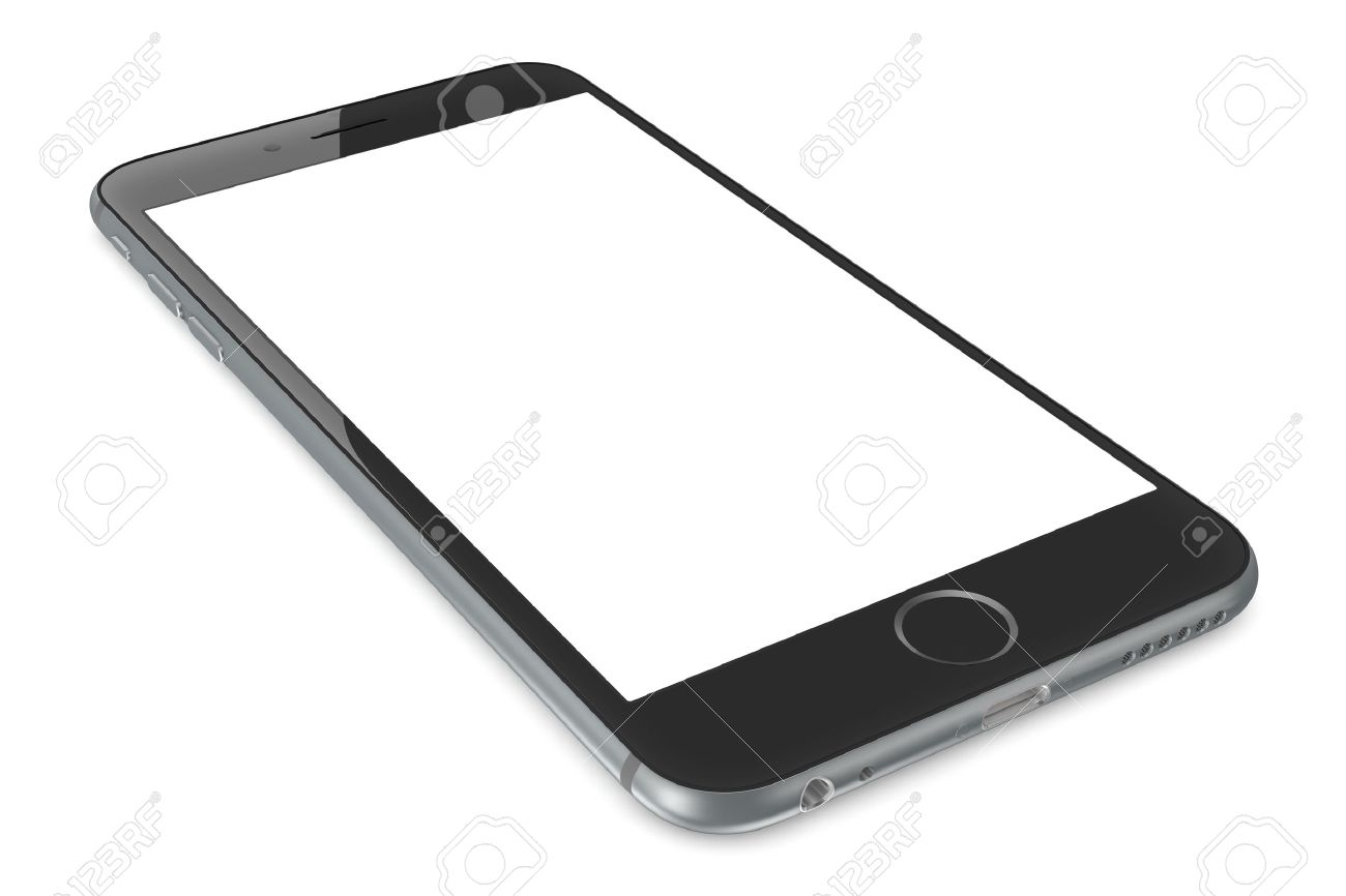 Apple Space Gray iPhone 6 Plus with white blank screen.The new iPhone with higher-resolution 4.7 and 5.5-inch screens, improved cameras, new sensors, a dedicated NFC chip for mobile payments. Apple released the iPhone 6 and iPhone 6 Plus on September 9, - 31750032