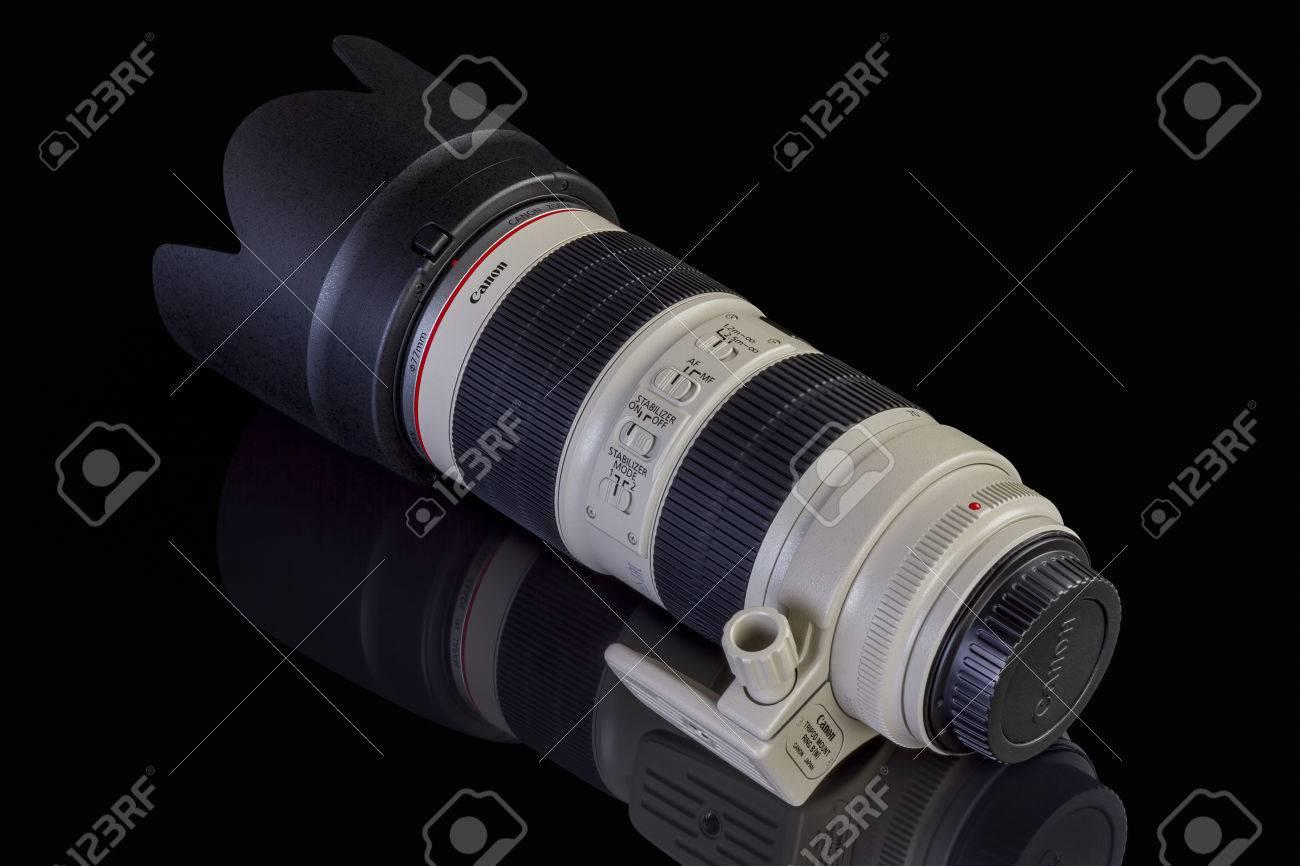 Galati Rumnien 27 Januar 2017 Canon Ef 70 200mm F 28l Is Lensa Ii Usm