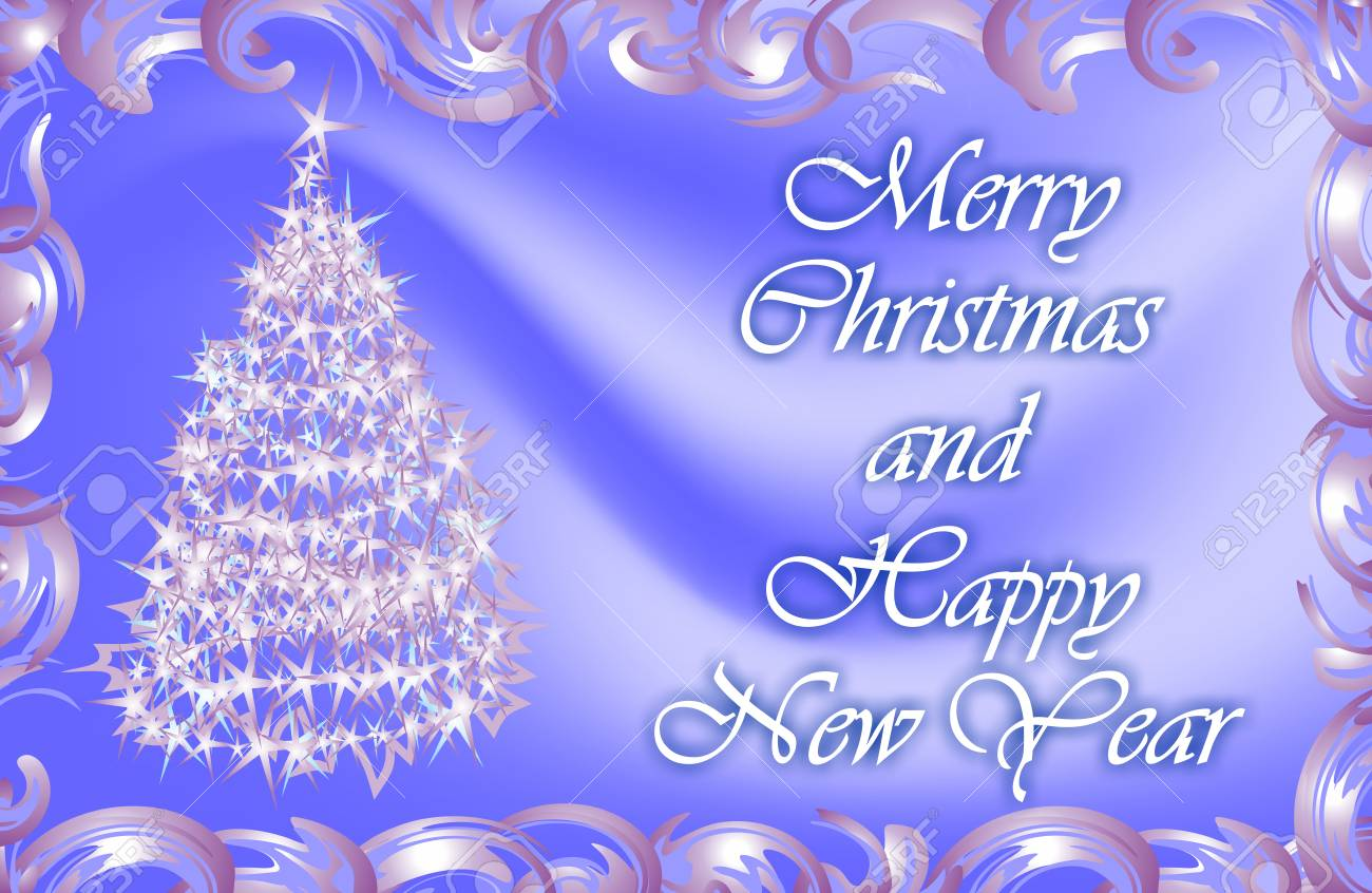 Wishes For Christmas And The New Year. Christmas Card. Gift... Stock ...