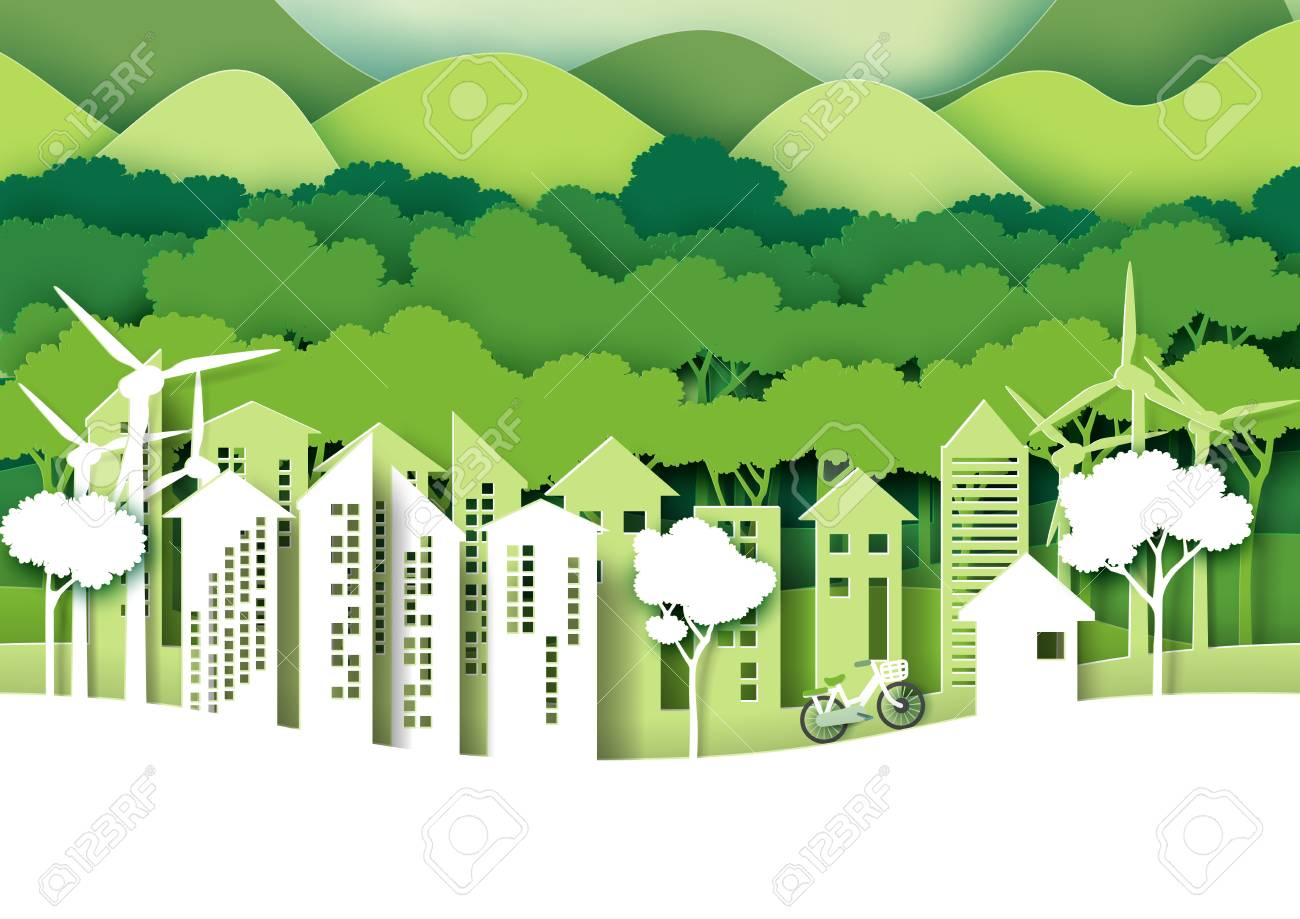 Eco Green City Save The World And Environment Concept Urban Forest