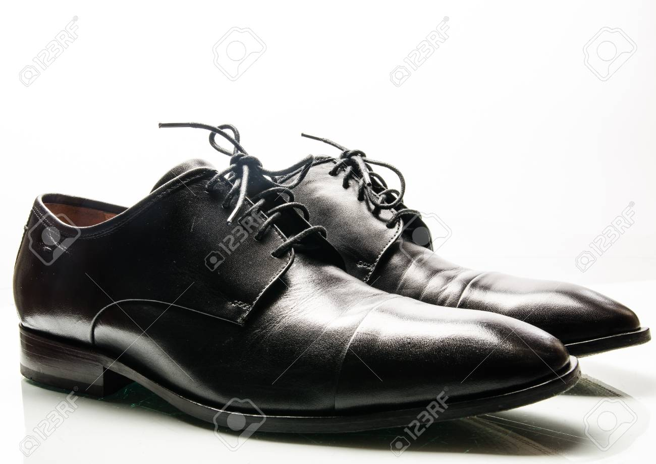 The black man s shoes isolated on white background Stock Photo - 17911695