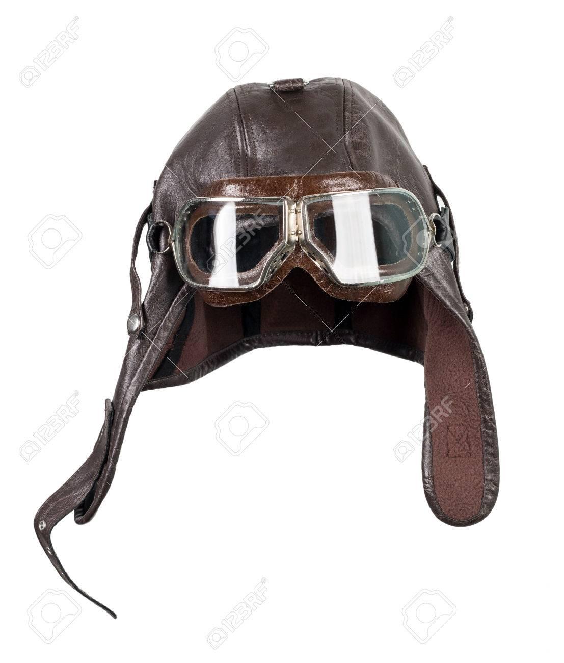 Old pilot   aviator hat Stock Photo - 74856540 427e8d0b1da