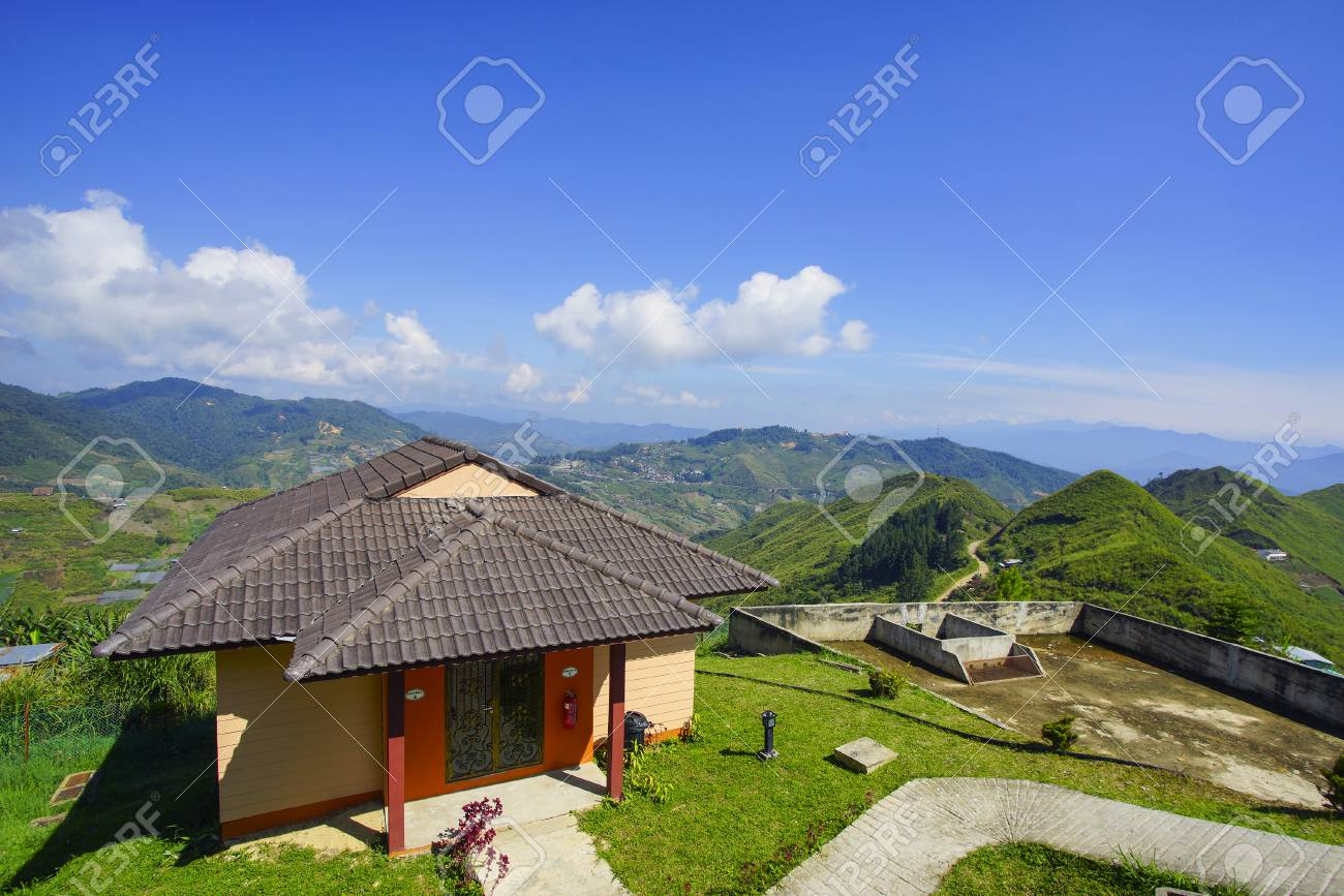 Beautiful Little House On Top Of The Hill With Lovely Blues Sky Stock Photo Picture And Royalty Free Image Image 67567781
