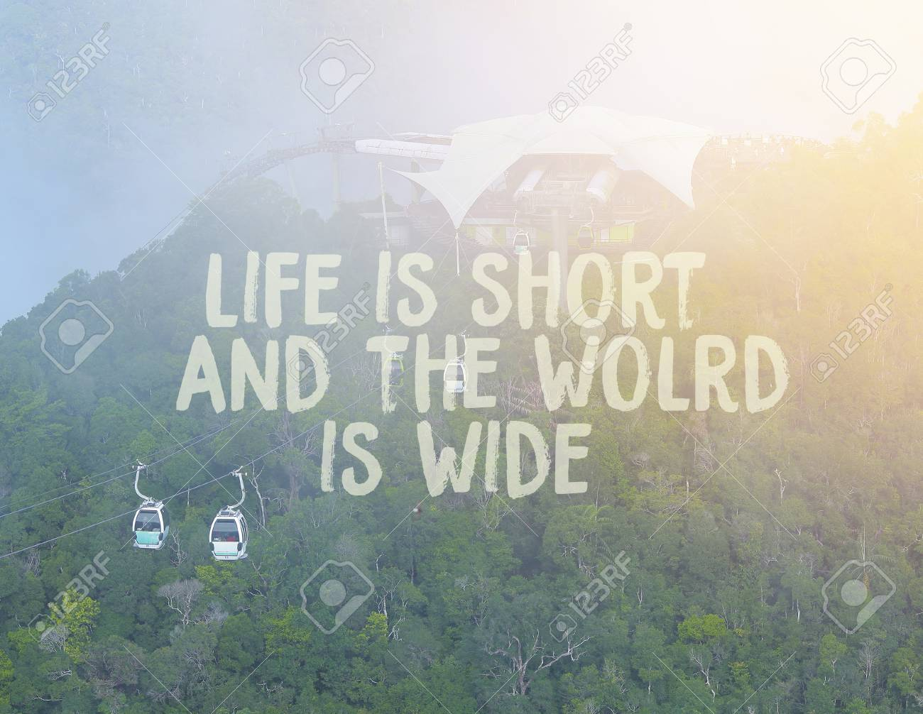 Life Is Short And The World Is Wide Inspirational Quote On Stock