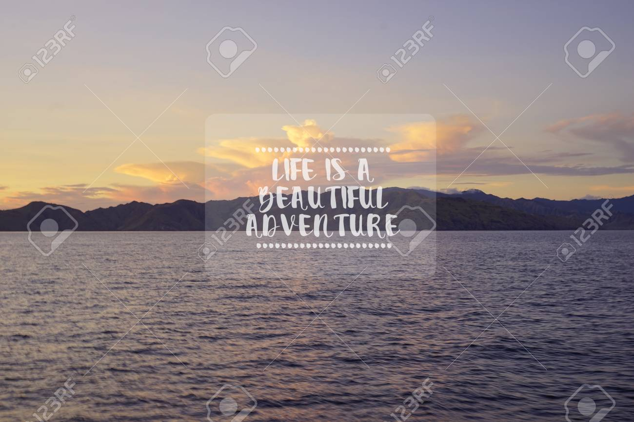 Travel inspirational quotes - Life is a beautiful adventure...