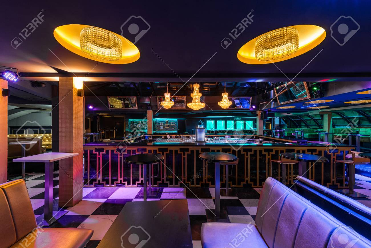 Interior Design Of Modern Lounge Bar Stock Photo, Picture And ...