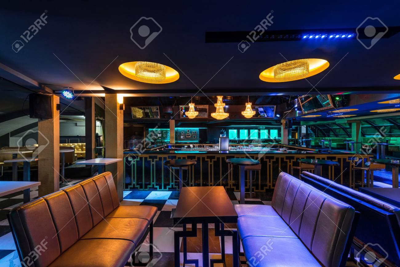 Interior Designe Of Luxury Discotheque Stock Photo, Picture And ...