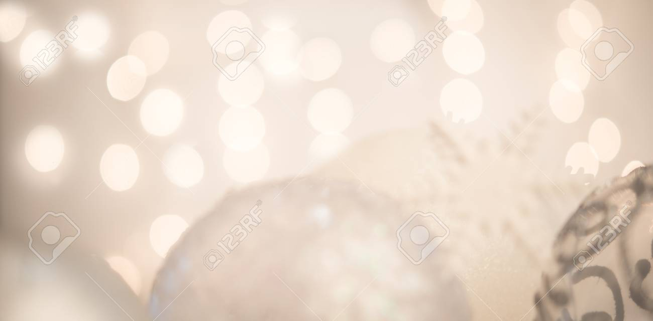 silver background with christmas baubles good as new year background stock photo 90377516