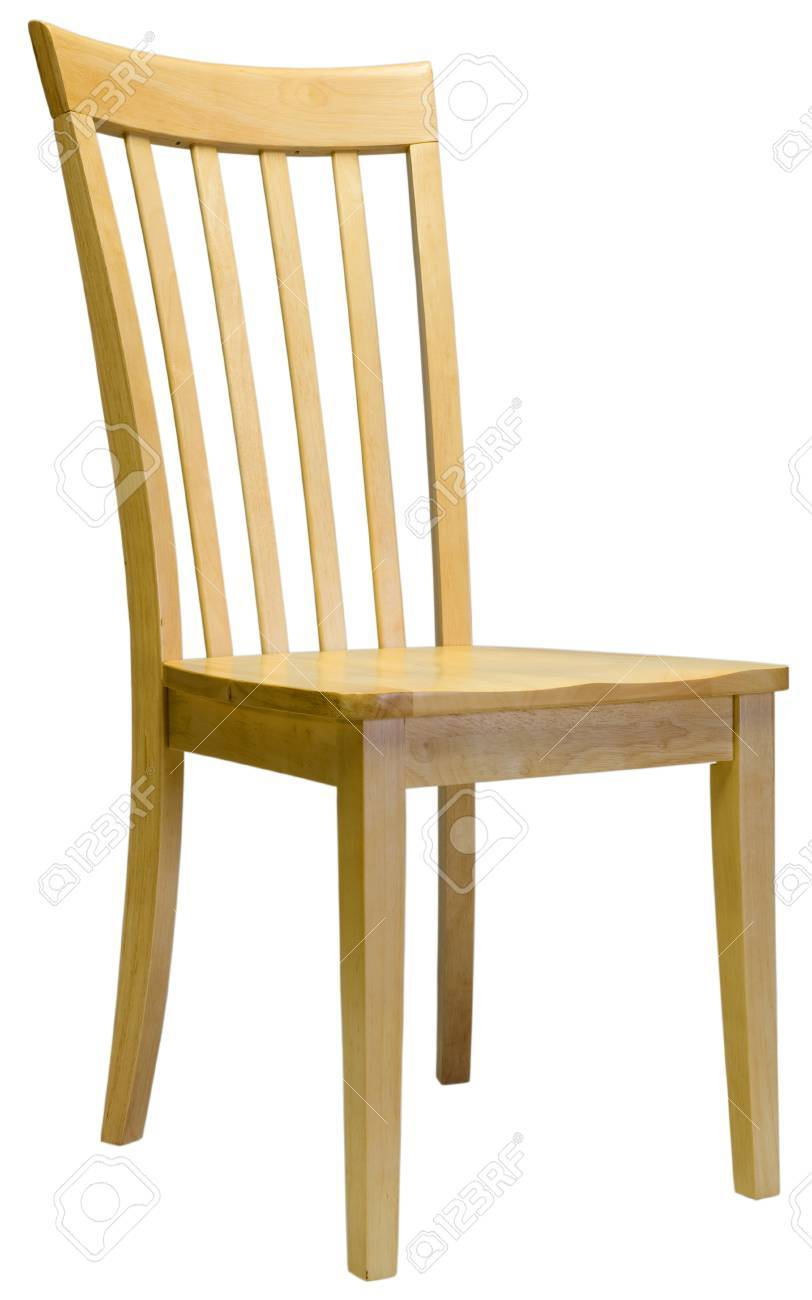 Maple Dining Room Chair In Natural Finish Stock Photo