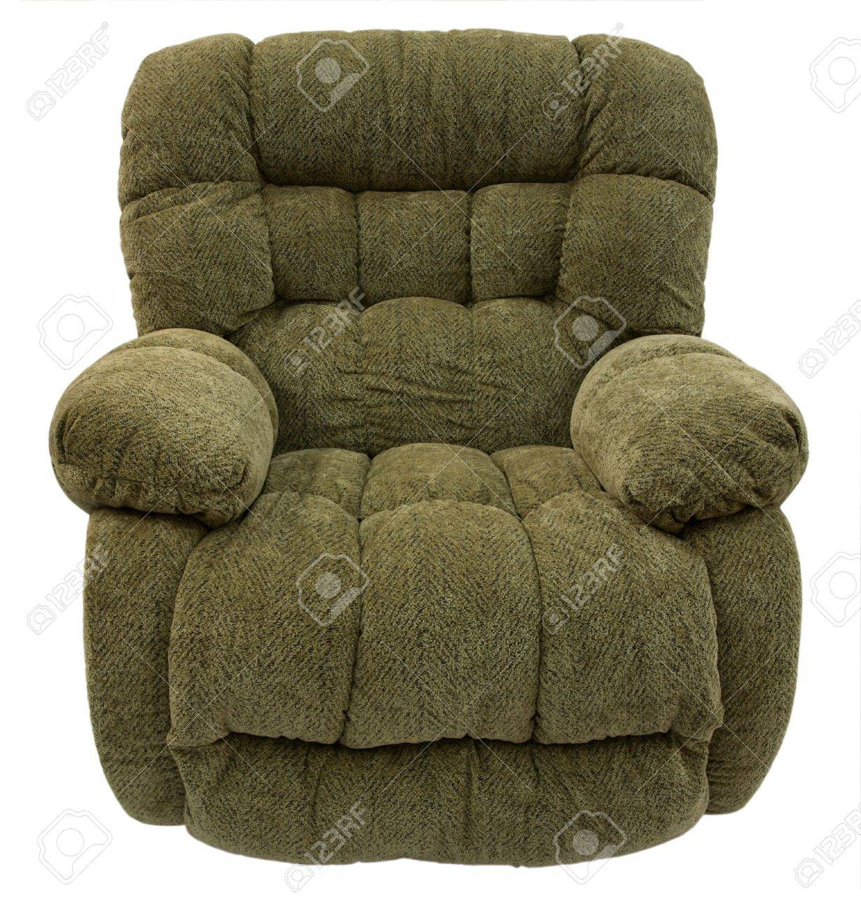 Big and Plush Rocker Recliner in Sage Acrylic Fabric Stock Photo - 2684370  sc 1 st  123RF Stock Photos & Big And Plush Rocker Recliner In Sage Acrylic Fabric Stock Photo ... islam-shia.org