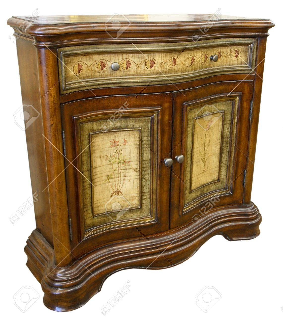 Antique Hand Painted Sofa Table Console Cabinet Stock Photo - 2699021 - Antique Hand Painted Sofa Table Console Cabinet Stock Photo, Picture