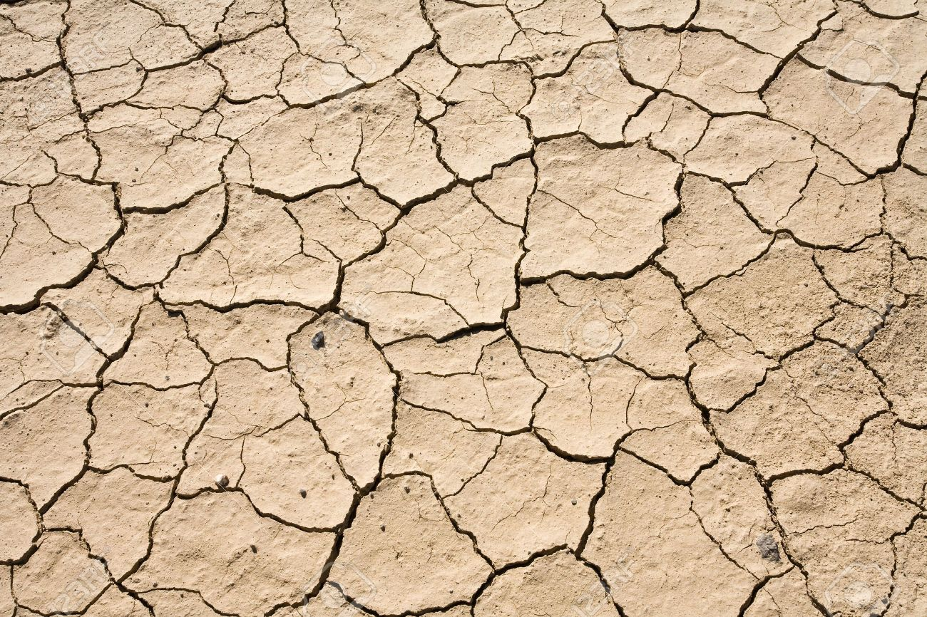 Dry Mud Cracked Desert Ground Abstract Background PatternDeath Valley National Park Stock Photo - 4460624