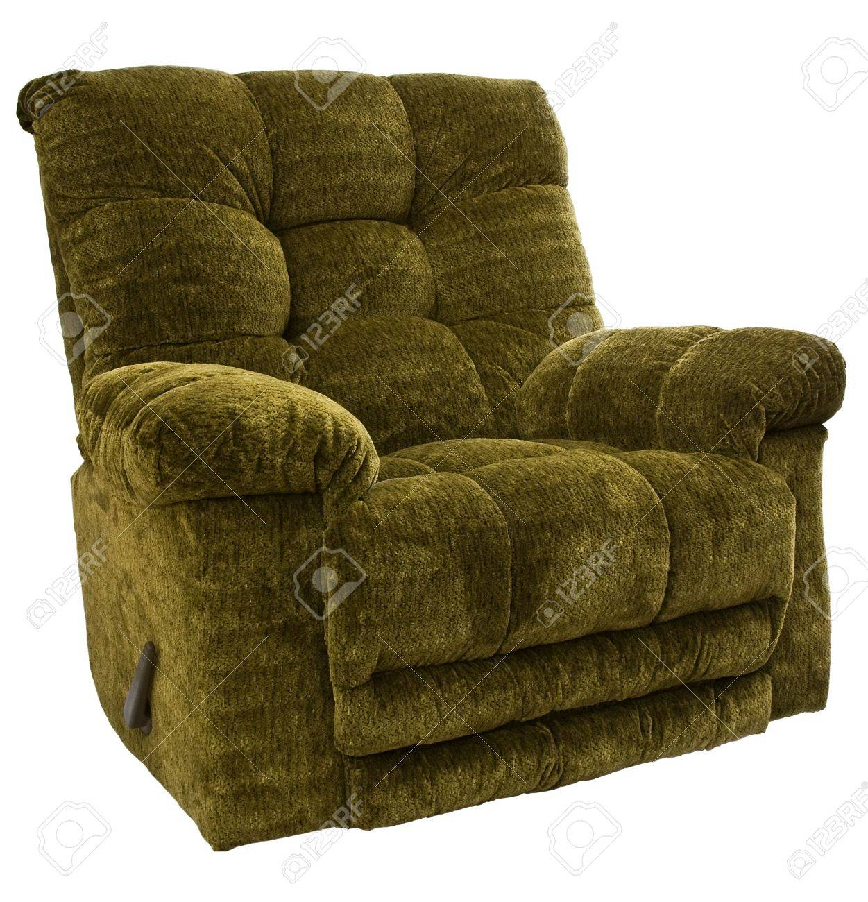 Genial Big And Tall Sage Green Rocker Recliner Chair Stock Photo   4809599