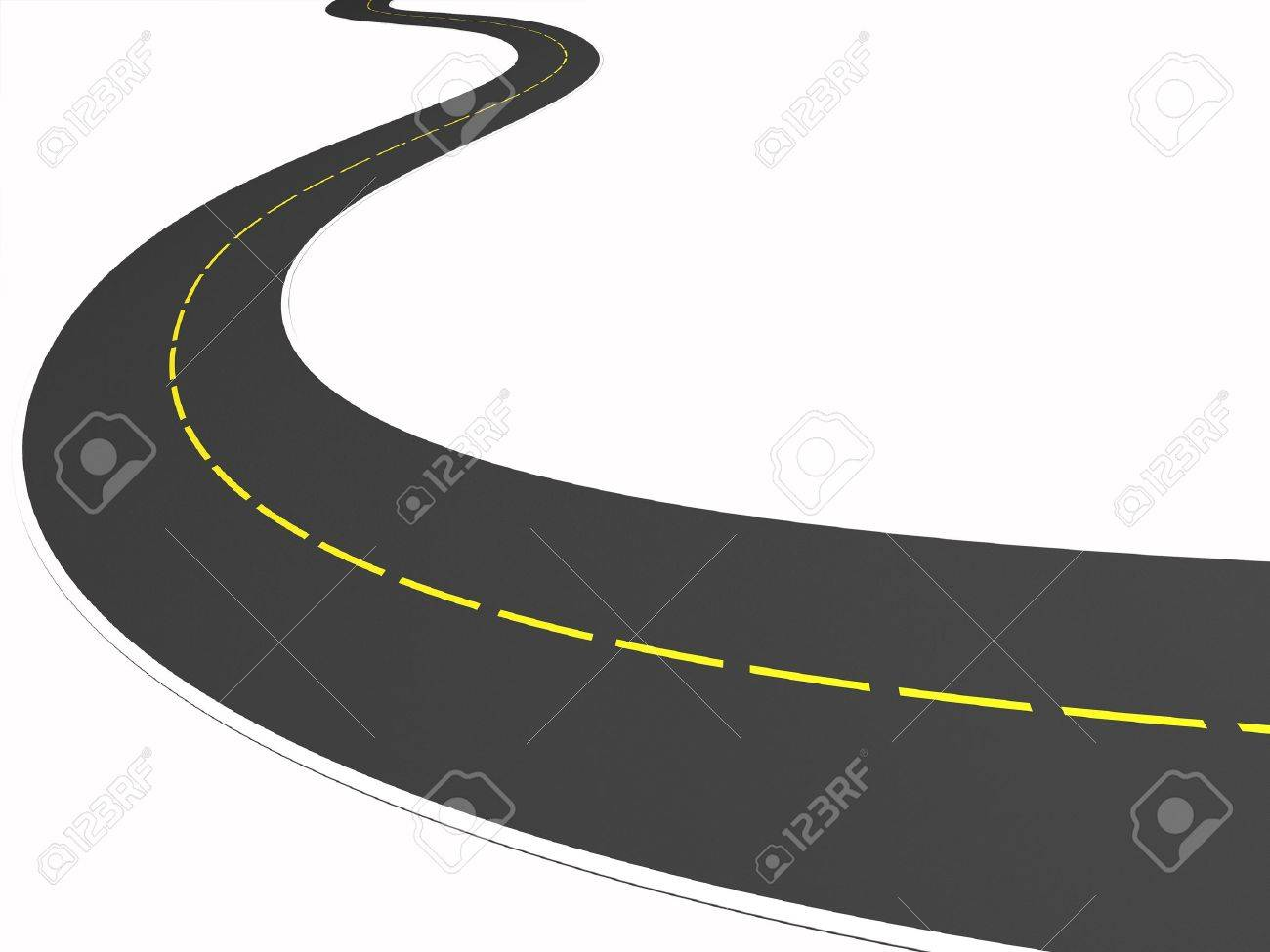 3d road on the white background Stock Photo - 13762109