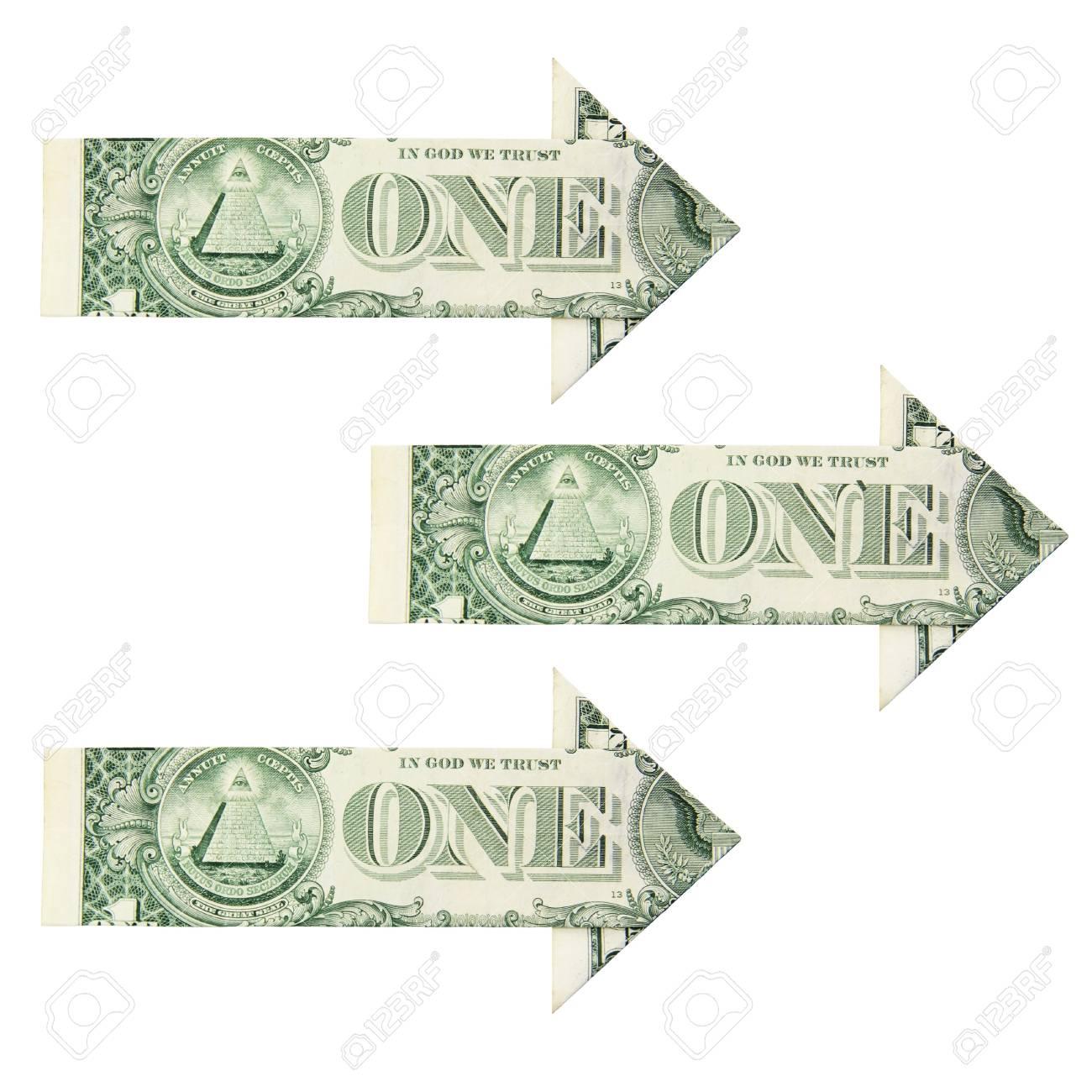 dollar growth arrow on a white background Stock Photo - 13796707