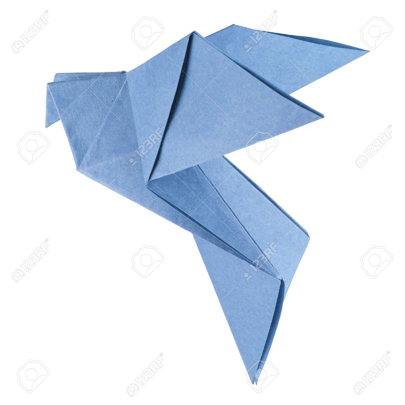 isolated origami dove on the white background Stock Photo - 14091932