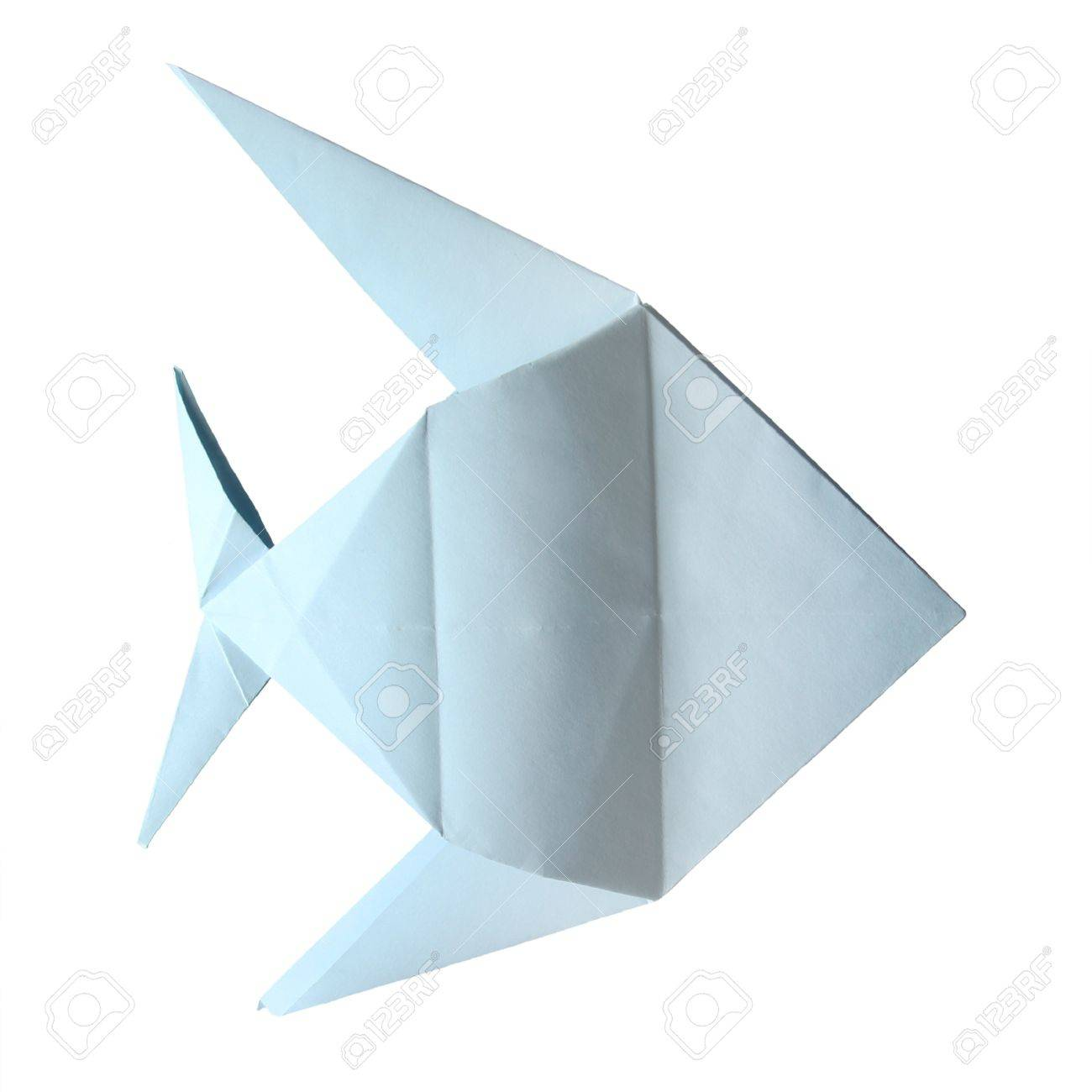 Origami blue tropical fish on the white background stock photo origami blue tropical fish on the white background stock photo 15800434 jeuxipadfo Images