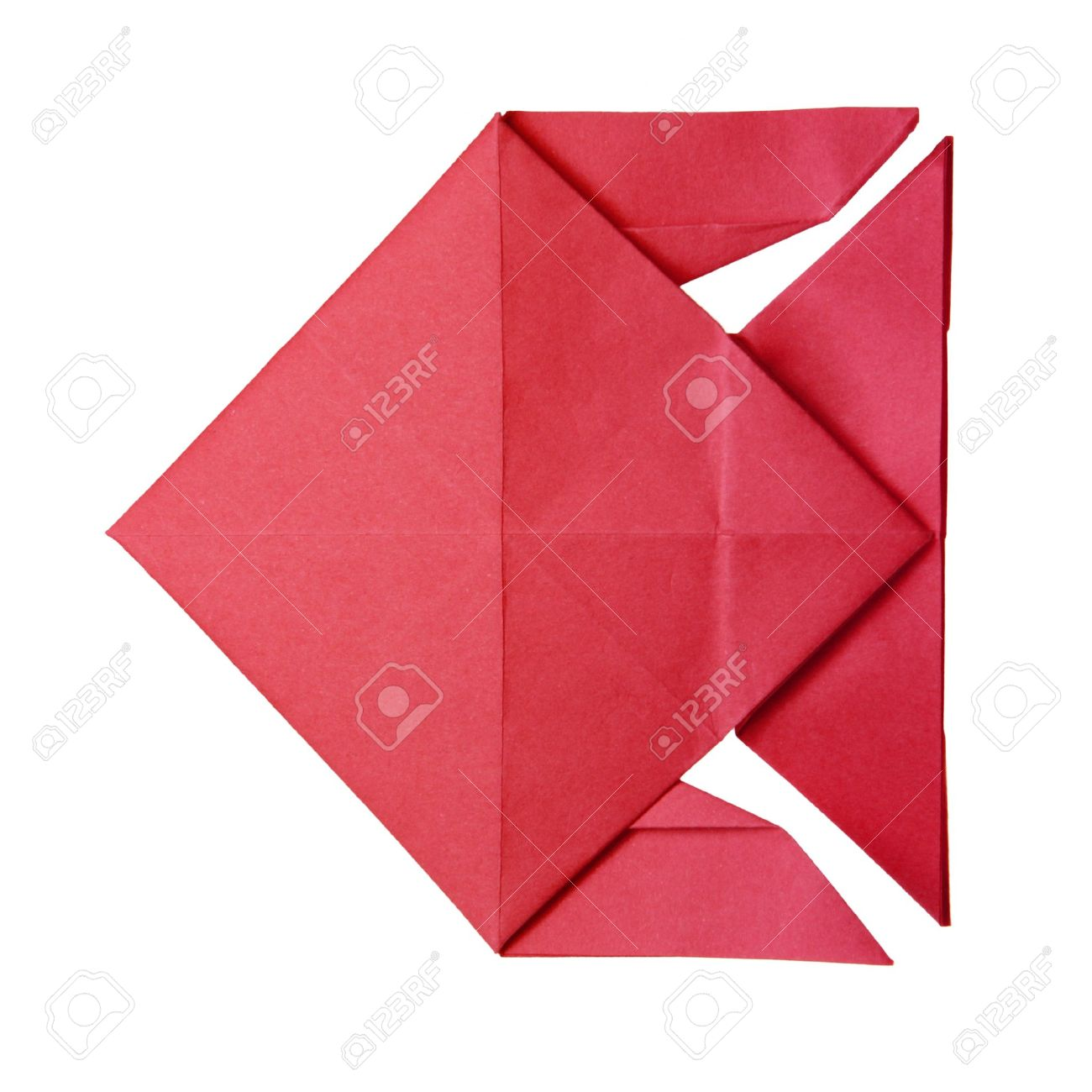 Origami red geometric fish on the white background stock photo origami red geometric fish on the white background stock photo 16118937 jeuxipadfo Images