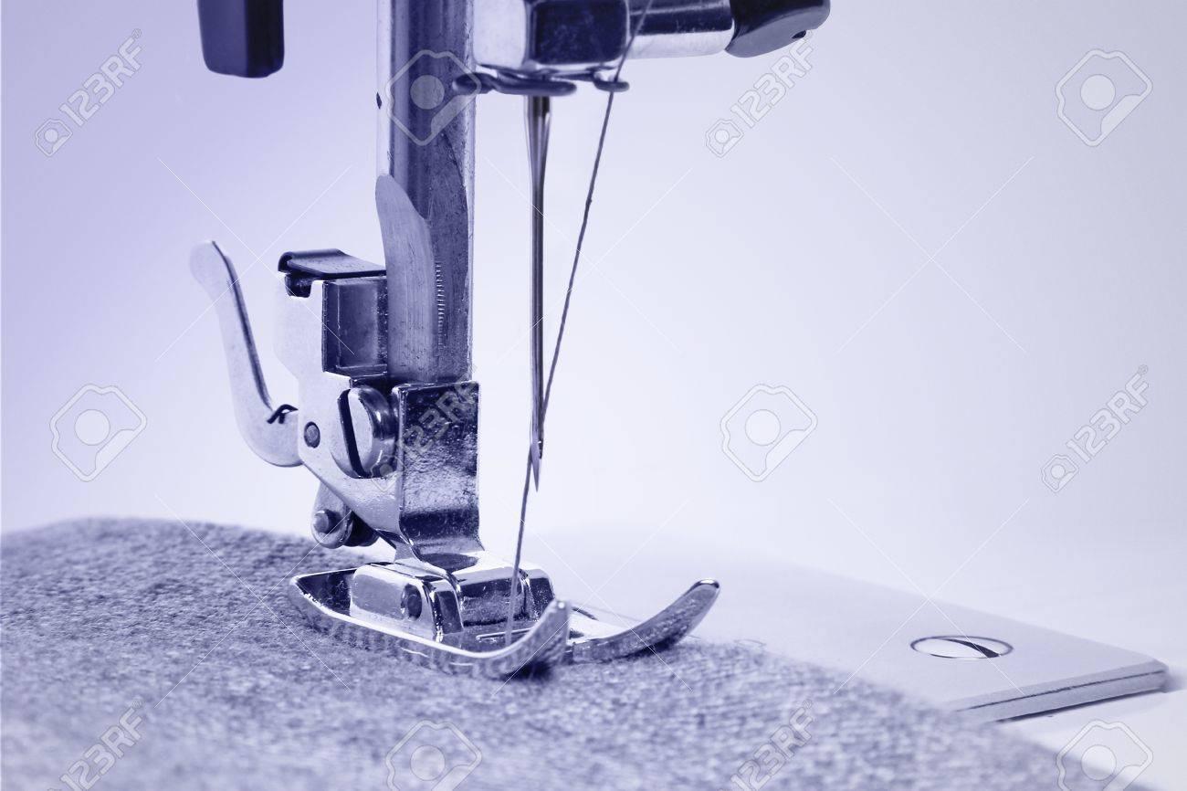 Sewing machine in the studio scribbling denim Stock Photo - 19687007