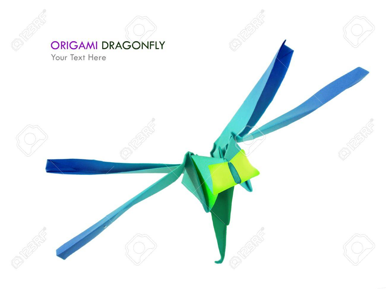 Origami paper dragonfly on a white background stock photo picture origami paper dragonfly on a white background stock photo 20786935 jeuxipadfo Image collections