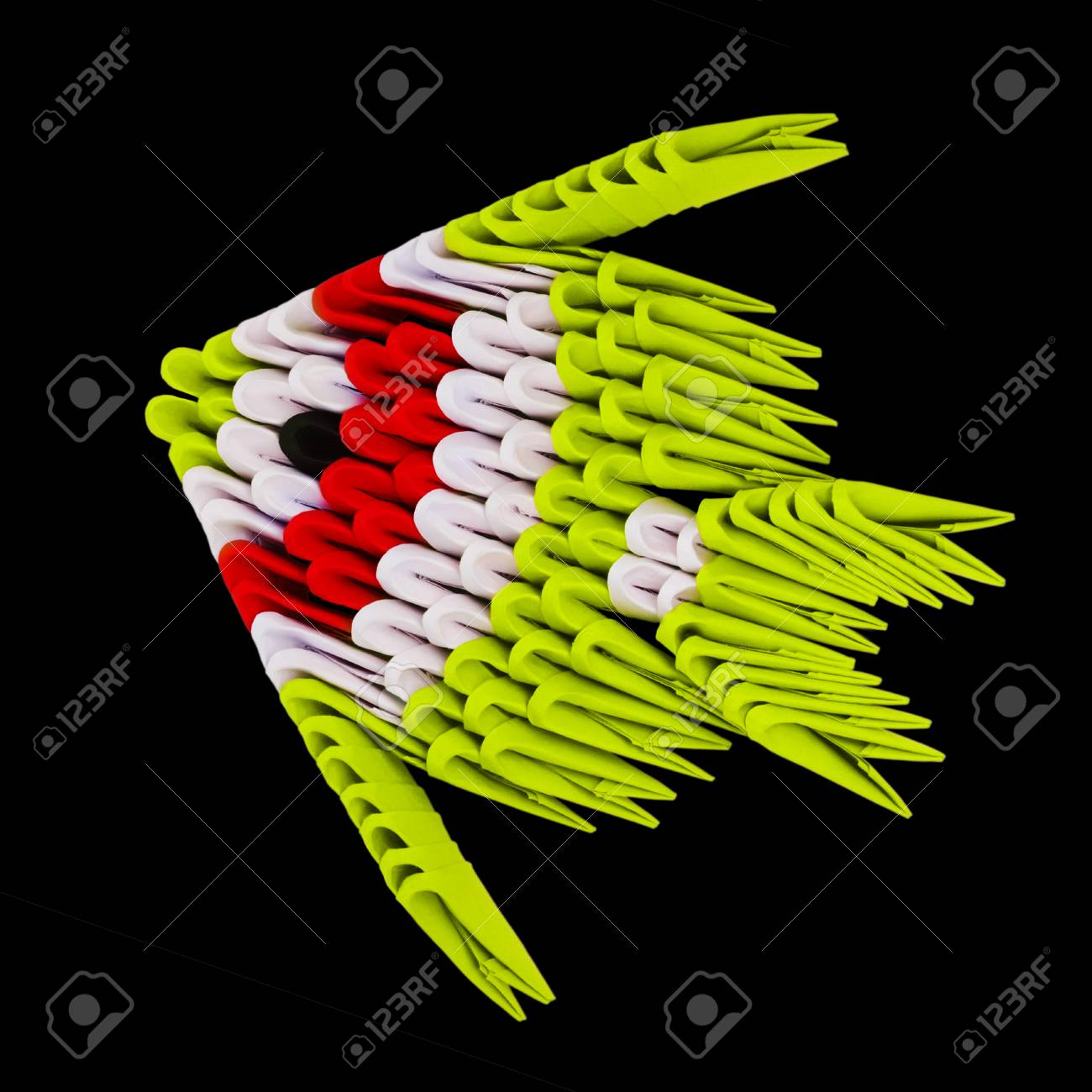 Origami tropical striped fish on the black background stock photo origami tropical striped fish on the black background stock photo 54169134 jeuxipadfo Images